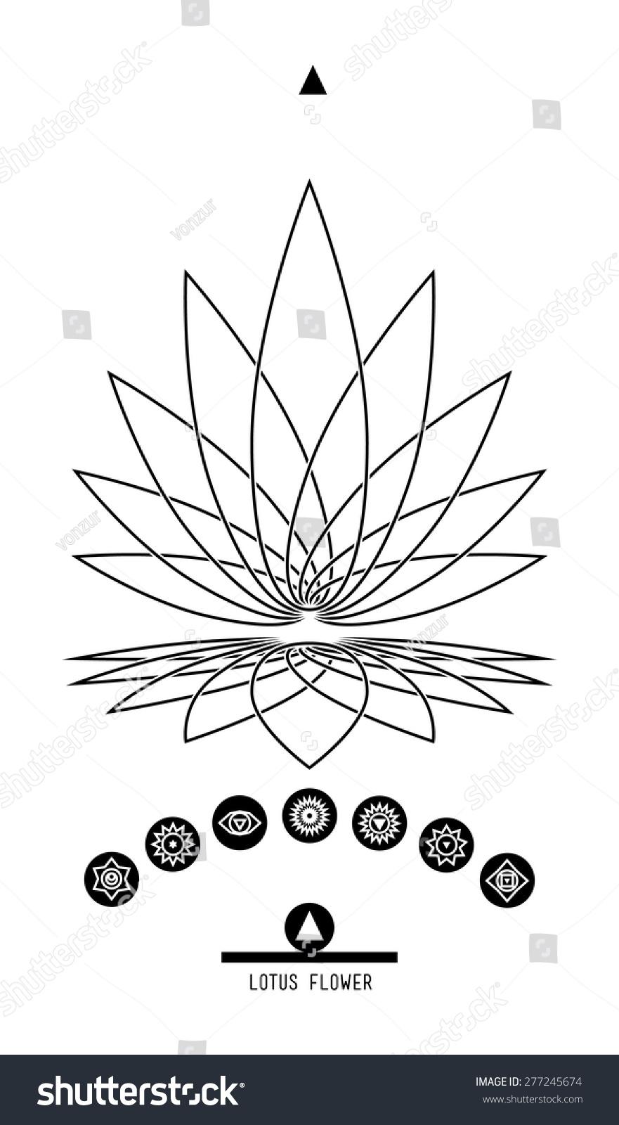 Lotus seven chakras buddhist hindu tantric stock vector 277245674 buddhist hindu tantric symbol harmony and balance cosmos and the universe biocorpaavc Images