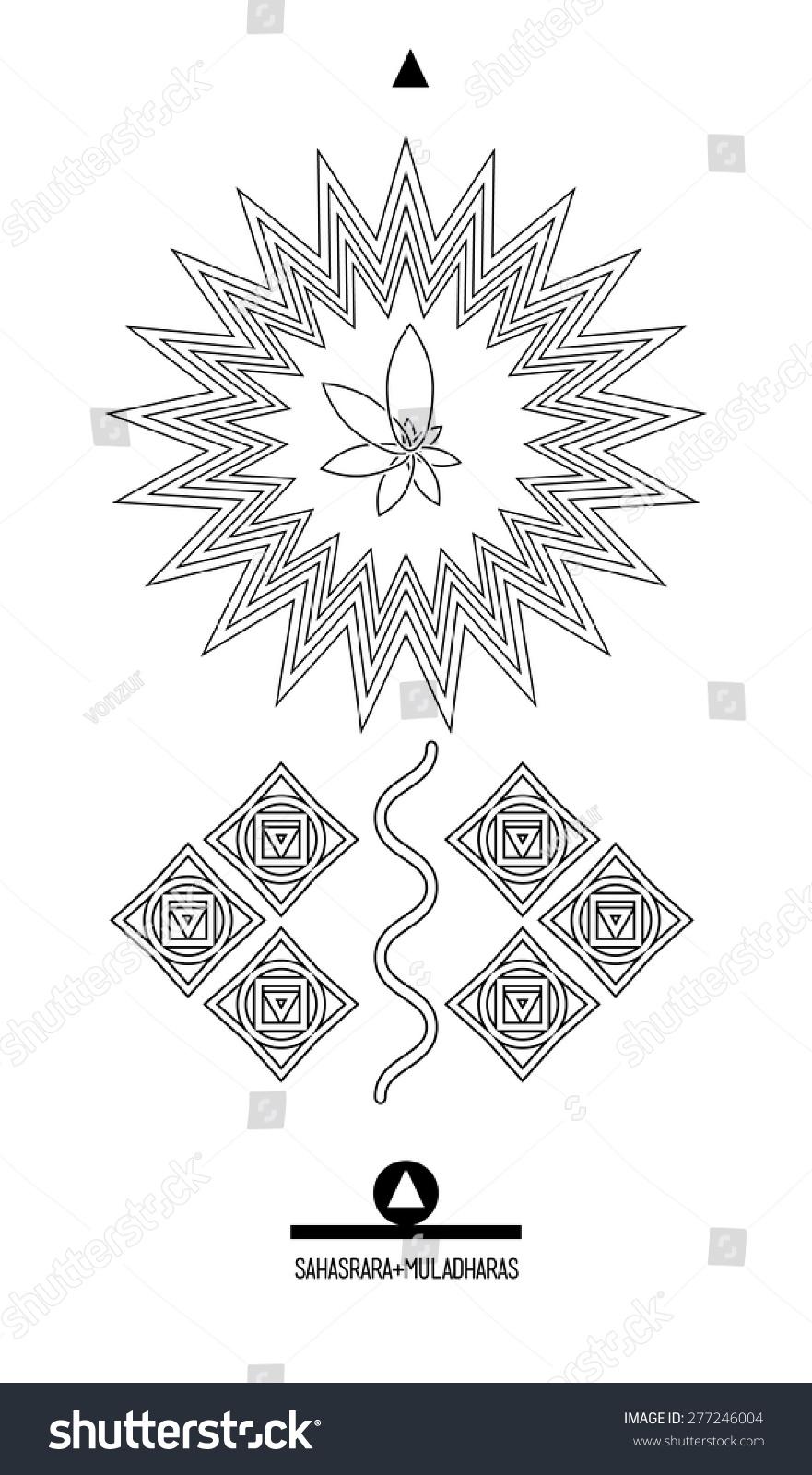 Sahasrara muldaharas buddhist hindu tantric symbol stock vector buddhist hindu tantric symbol harmony and balance cosmos and the universe biocorpaavc Images