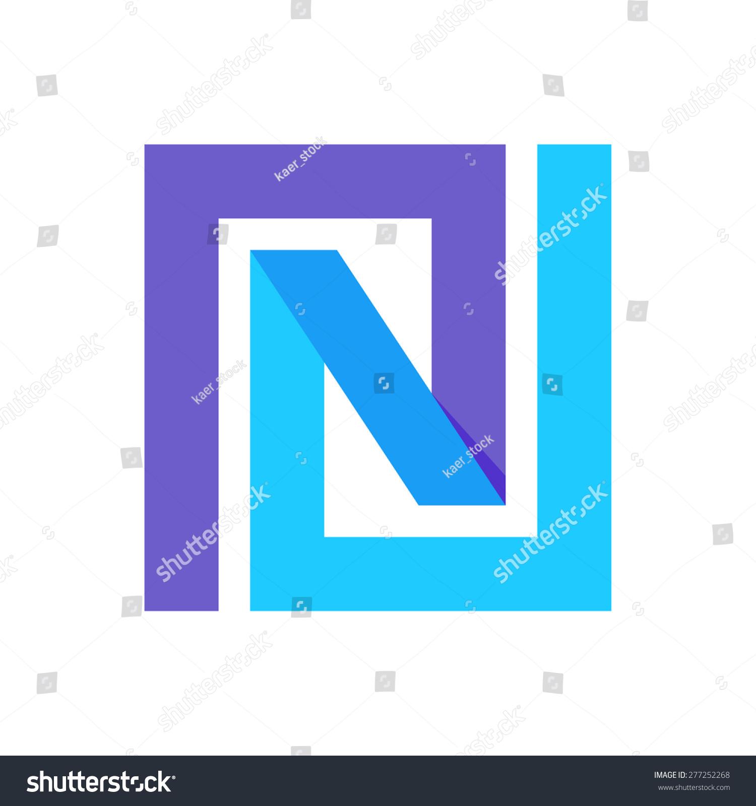 Line Logo Design : N letter line logo vector design stock