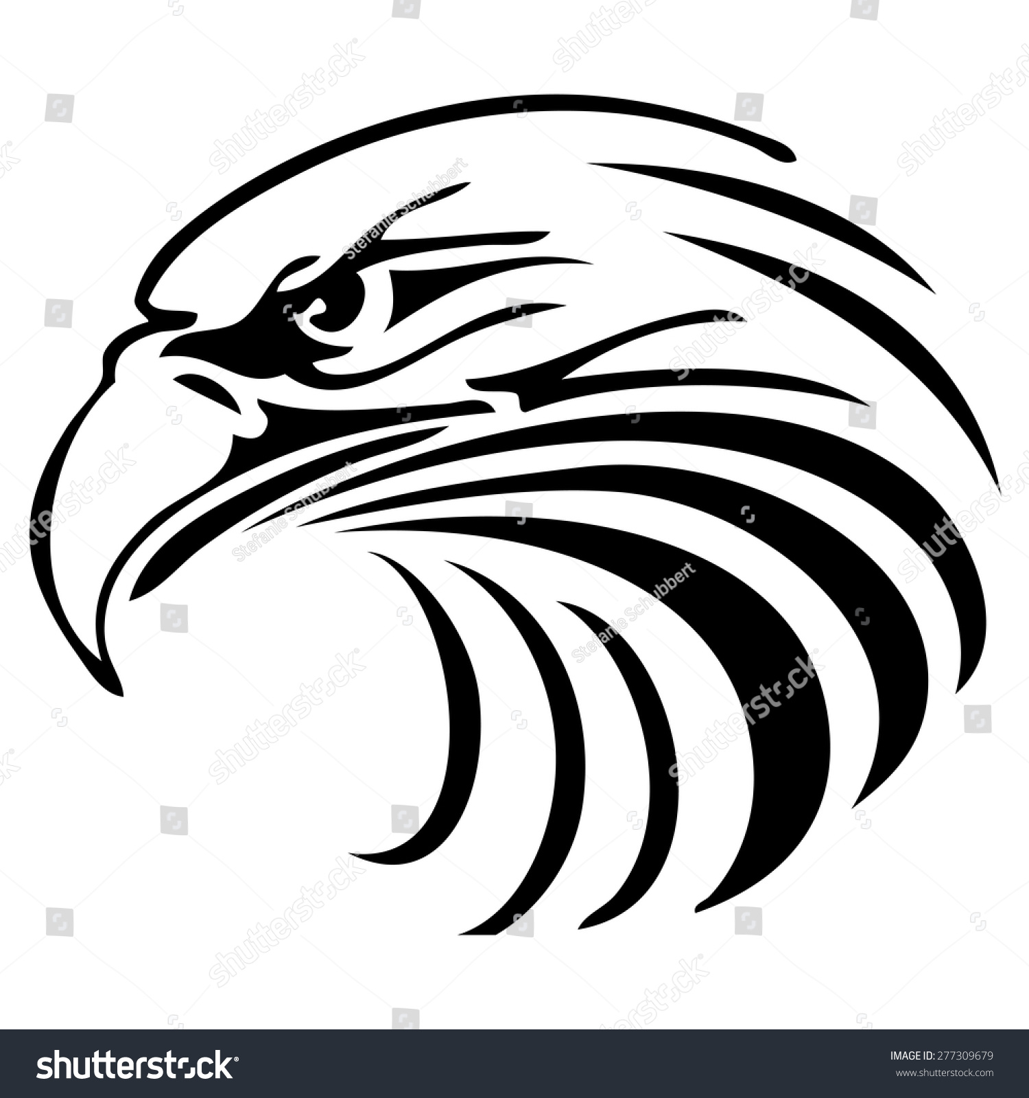 Eagle head logo black and white - photo#6