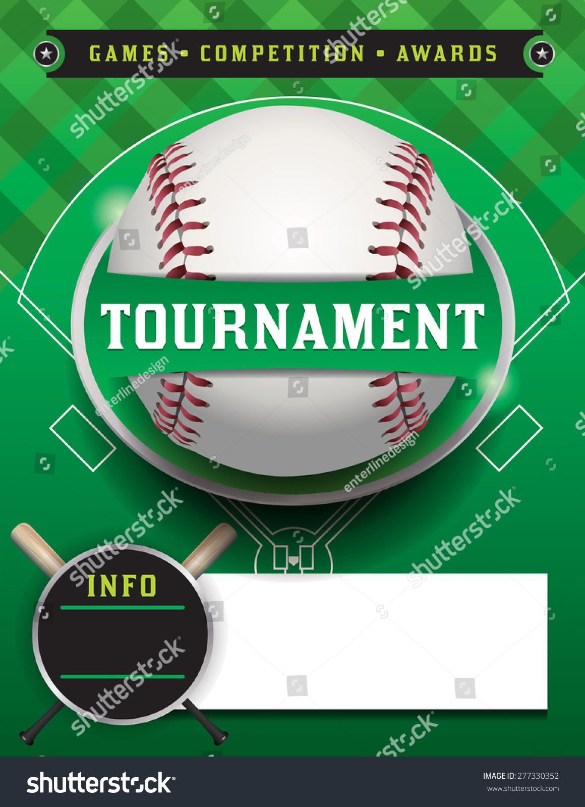 baseball tour nt flyer illustration room copy stock a baseball tour nt flyer illustration room for copy space