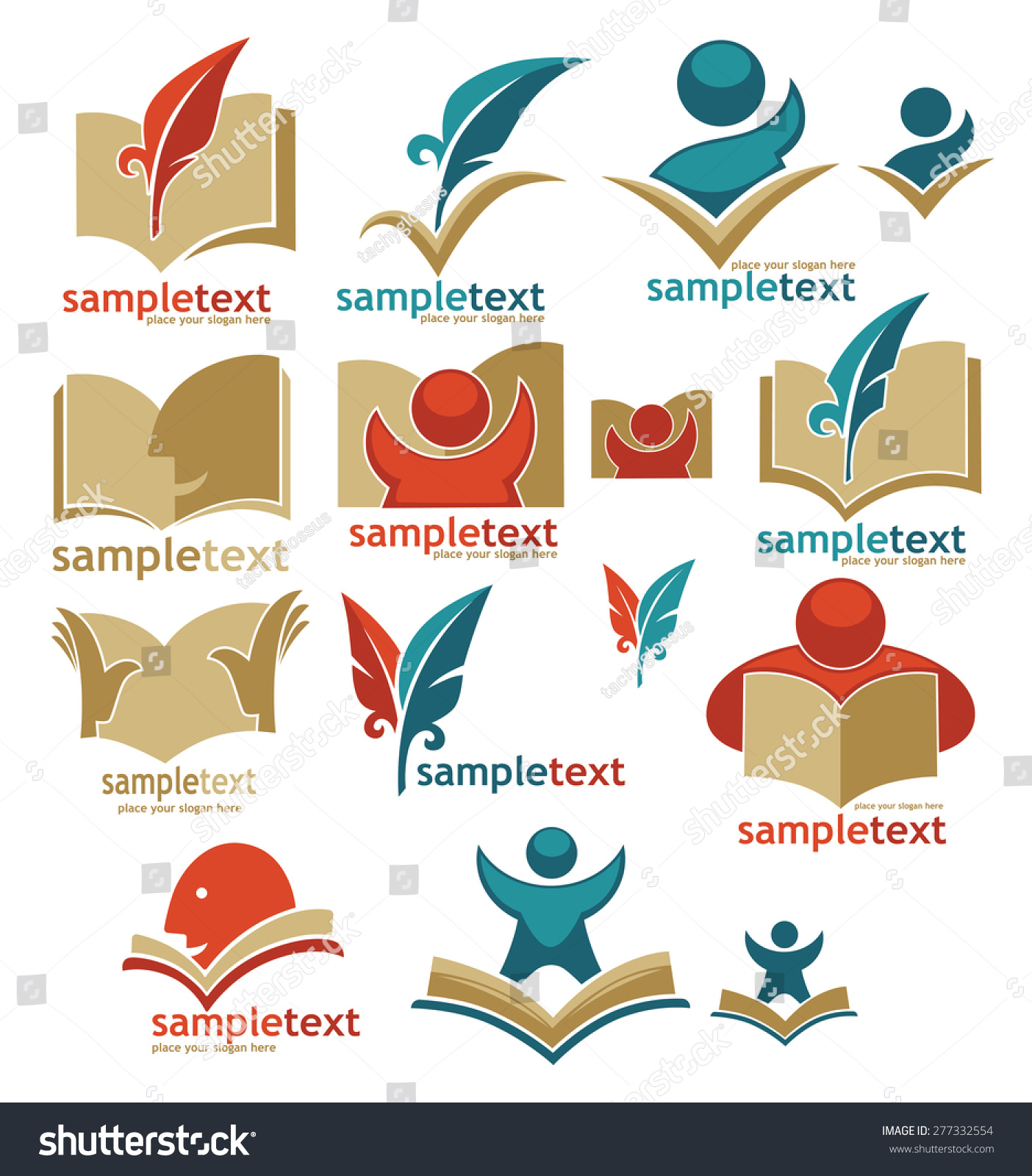 Book reading education signs symbols logo stock vector 277332554 book reading education signs symbols and logo buycottarizona Choice Image
