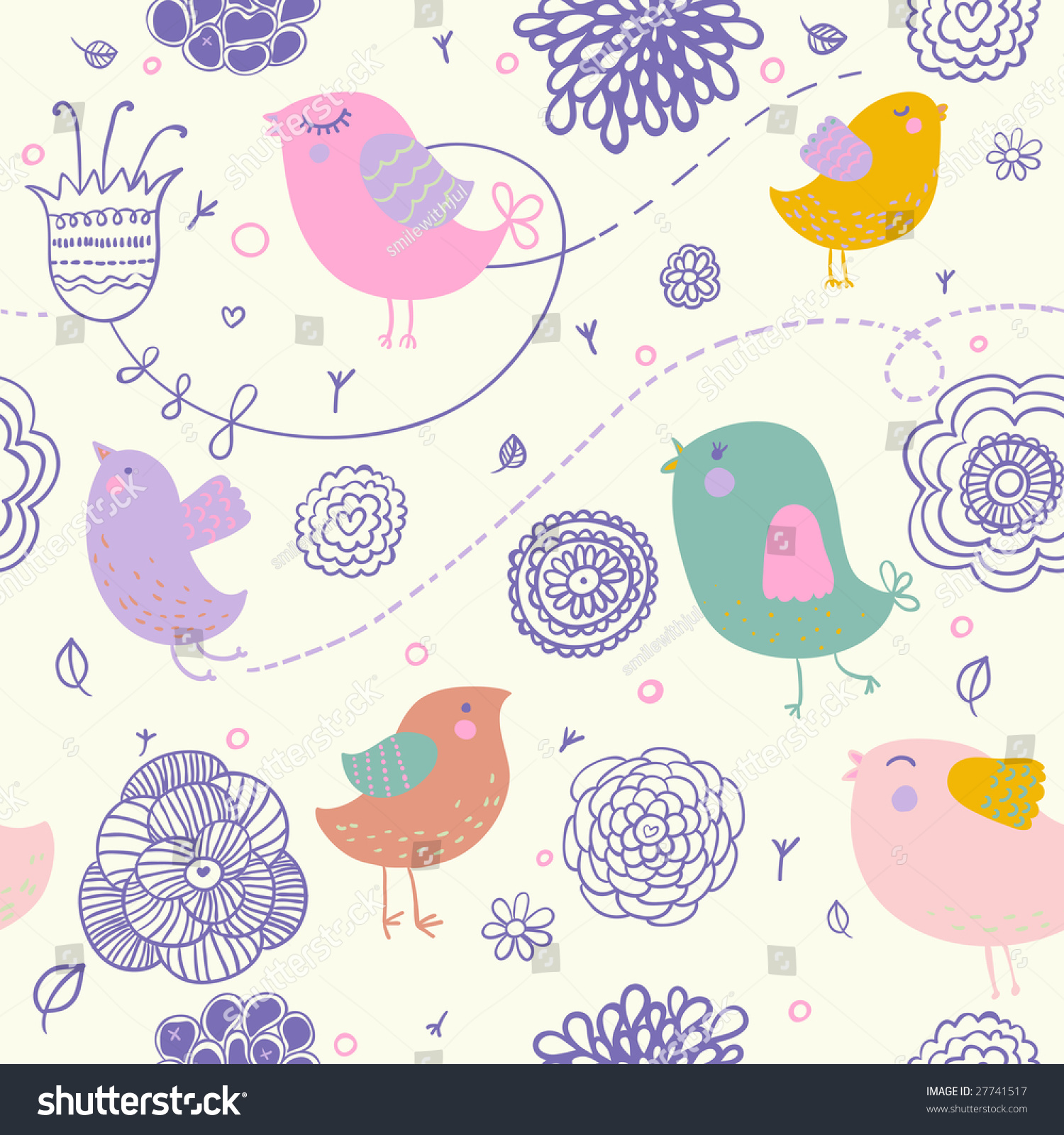 Cute spring floral pattern nice backgrounds stock illustration cute spring floral pattern for nice backgrounds this illustration in vector in my portfolio voltagebd Image collections