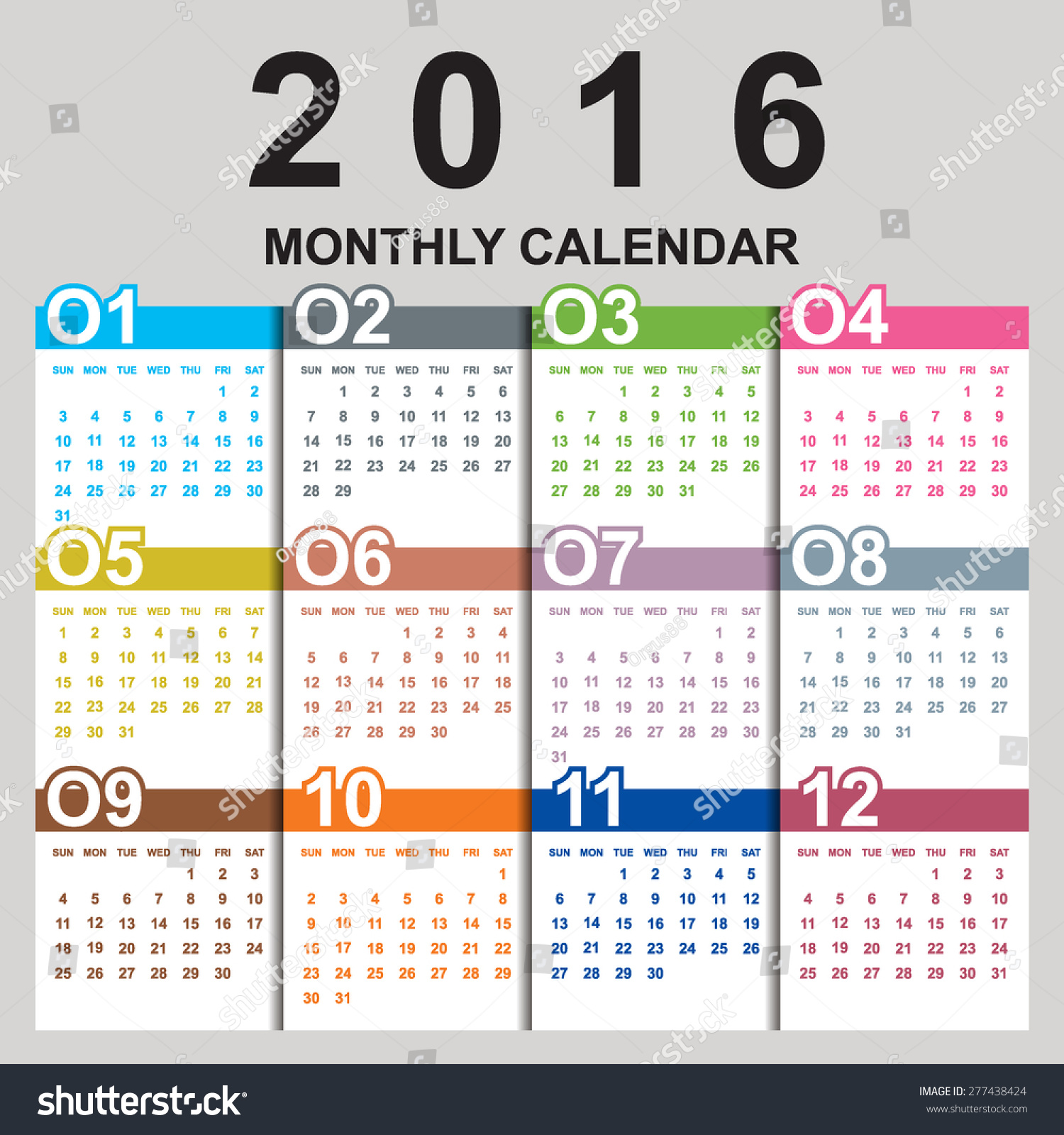 Vertical Calendar Design : Simple calendar design