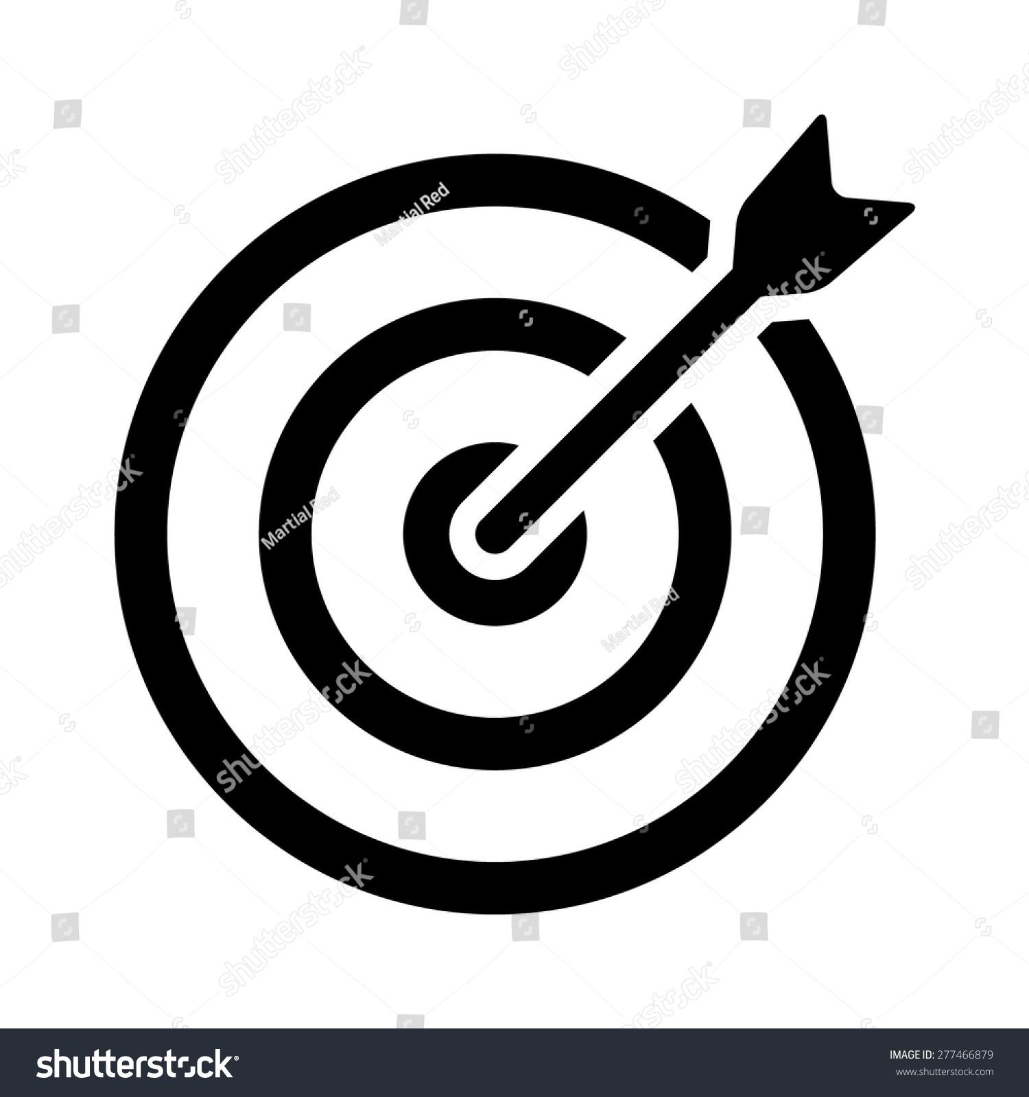 Line Art Icon : Target bullseye arrow on line stock vector
