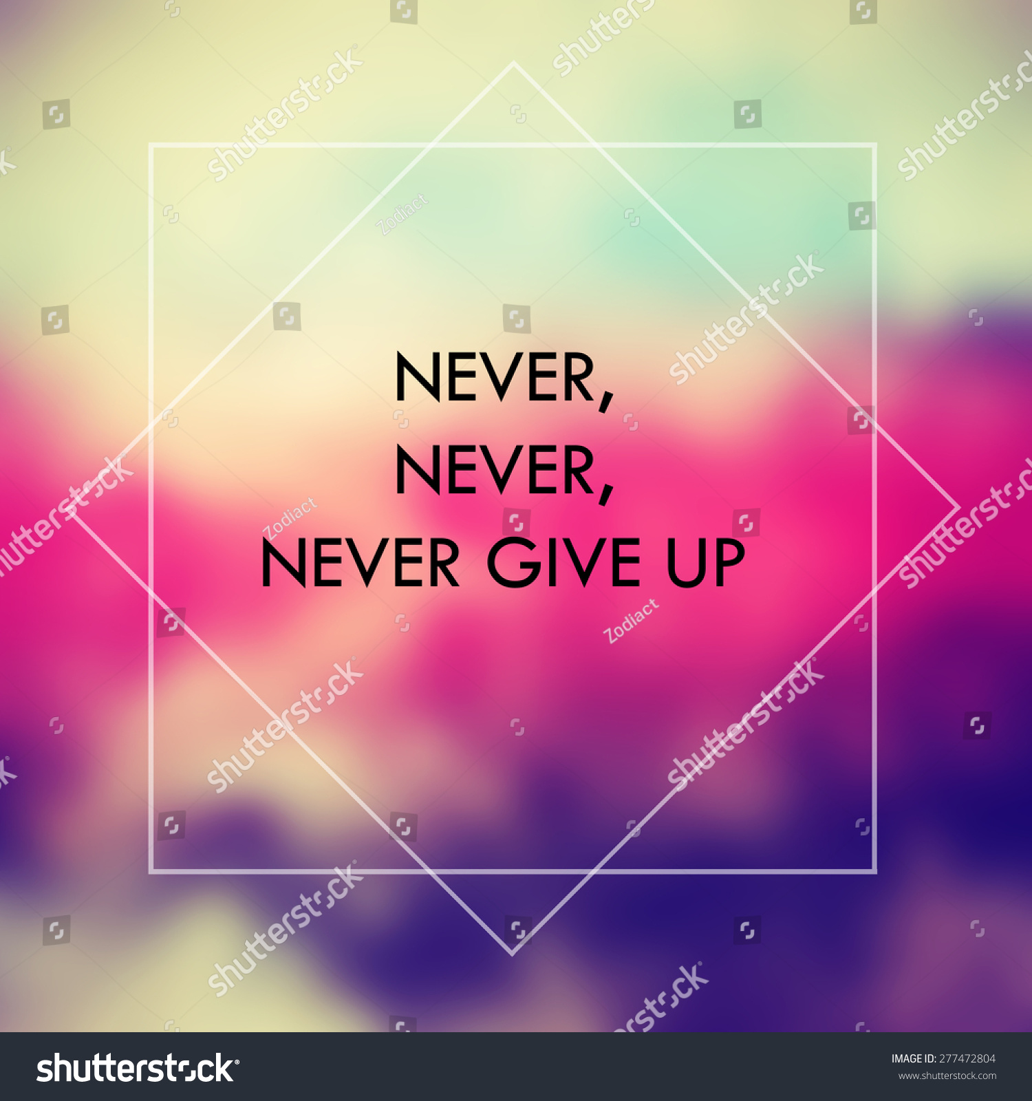 Inspirational Motivational Life Quote On Abstract Stock