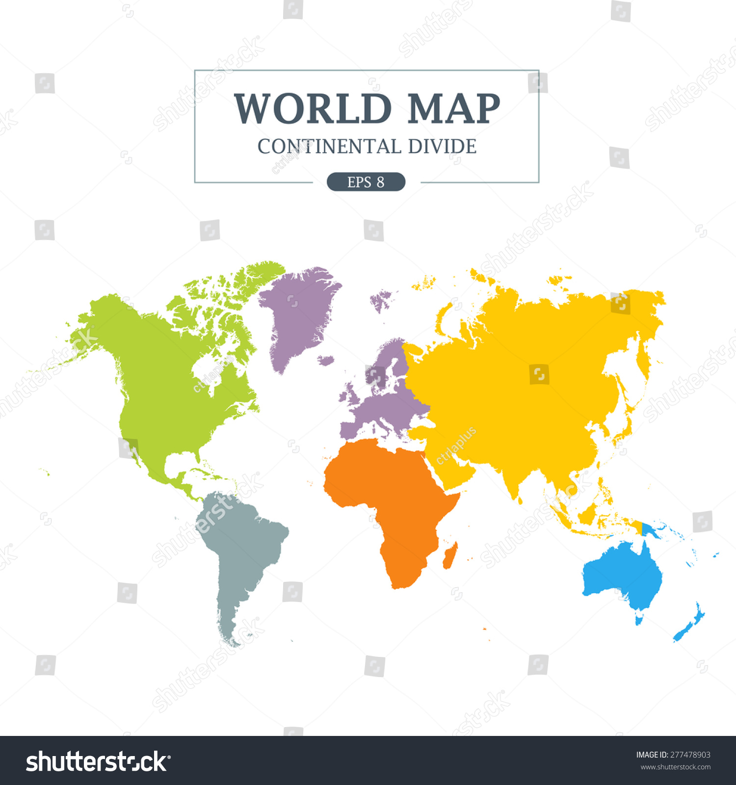 World map continental divide full color vectores en stock 277478903 world map continental divide full color vector illustration gumiabroncs Gallery
