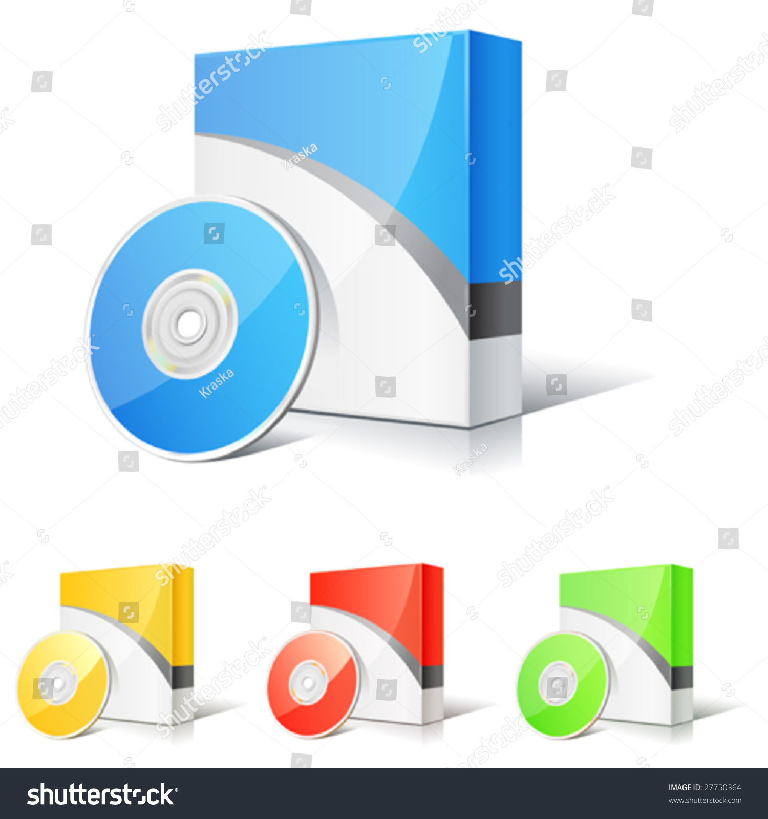 Vector set of software boxes 27750364 shutterstock Vector image software