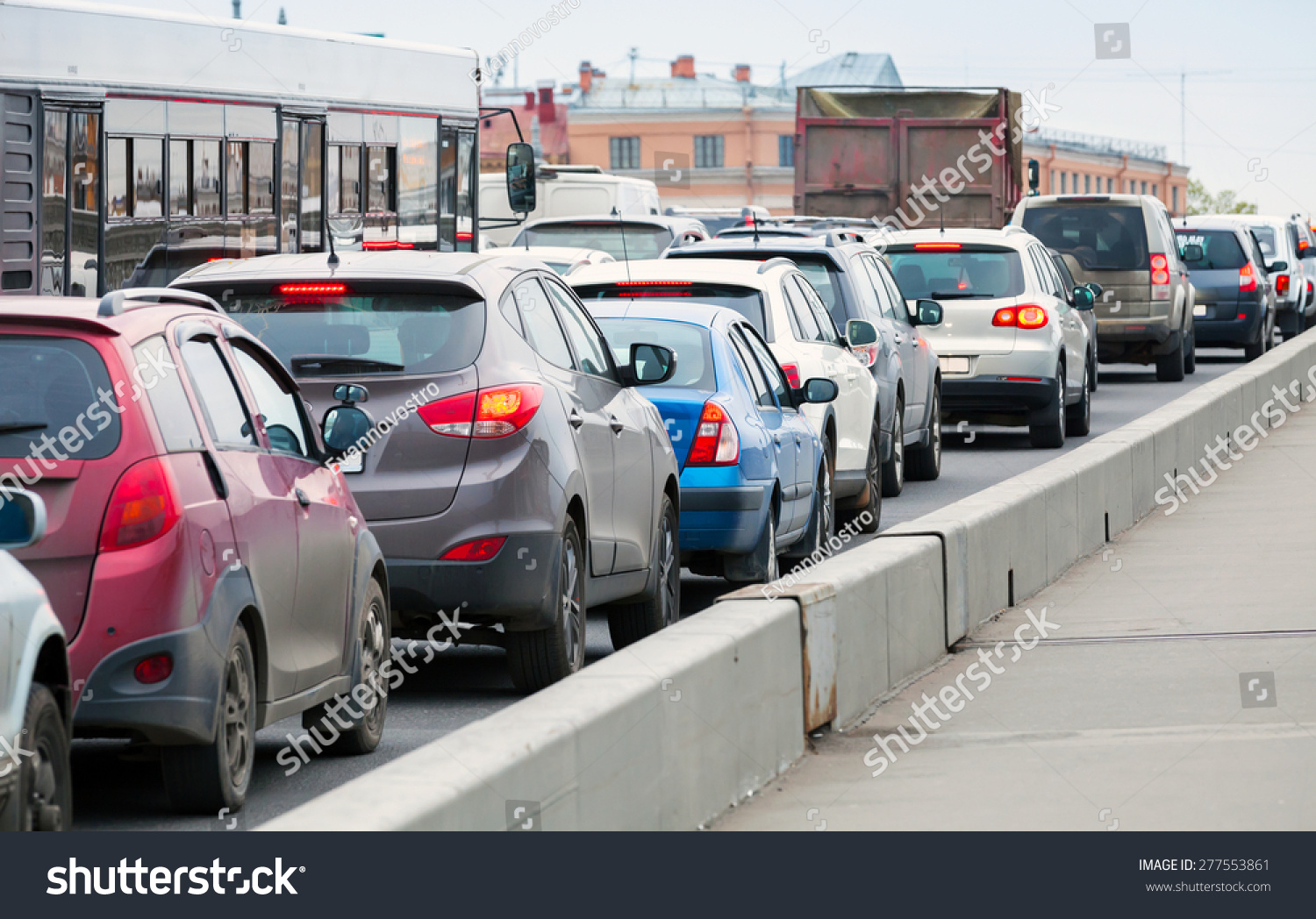 traffic jam in a big city Traffic congestion occurs when a volume of traffic or modal split generates demand for space greater than the available street capacity this point is commonly termed.