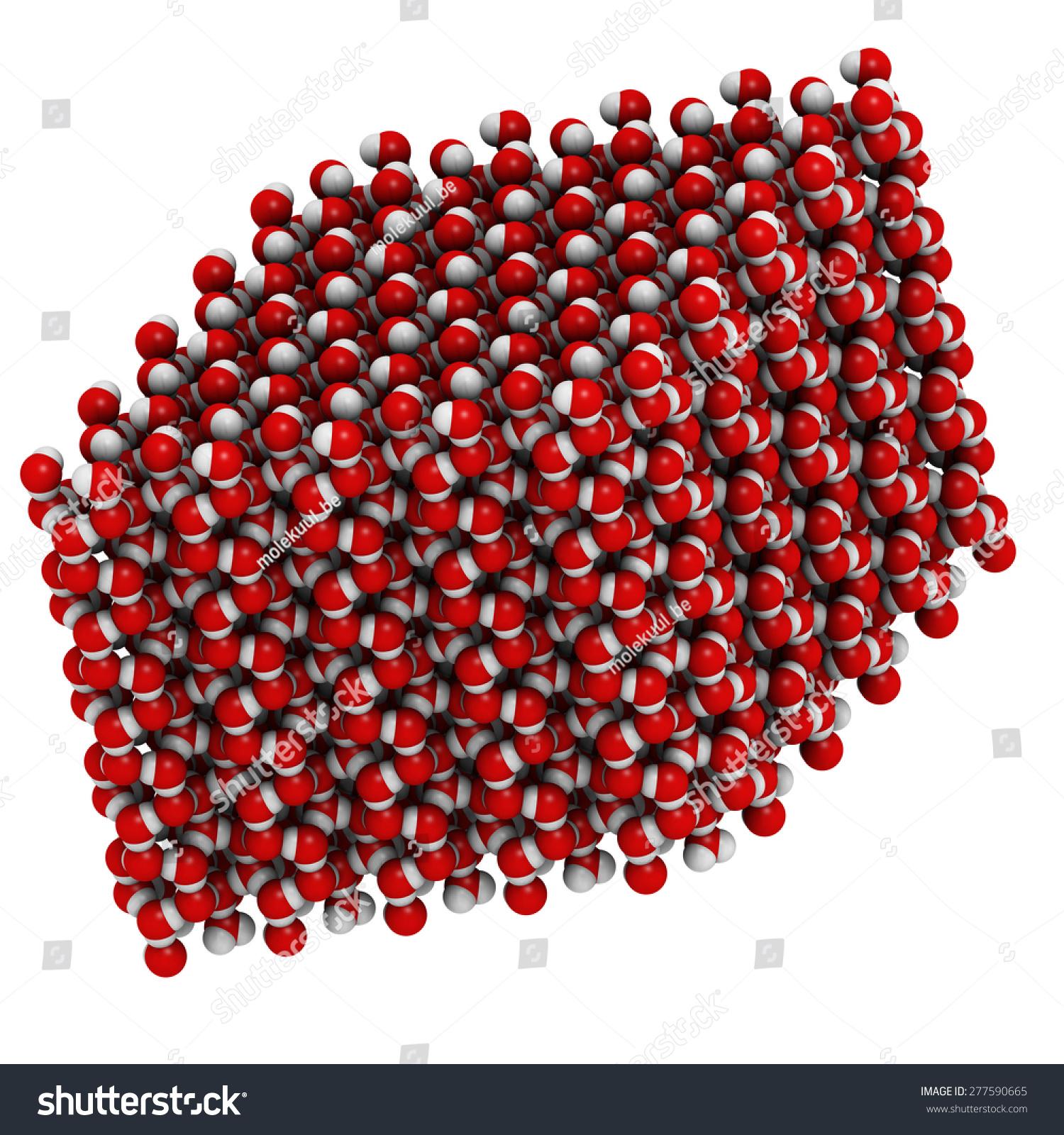Ice Frozen Water Hexagonal Crystal Structure Stock Illustration 277590665