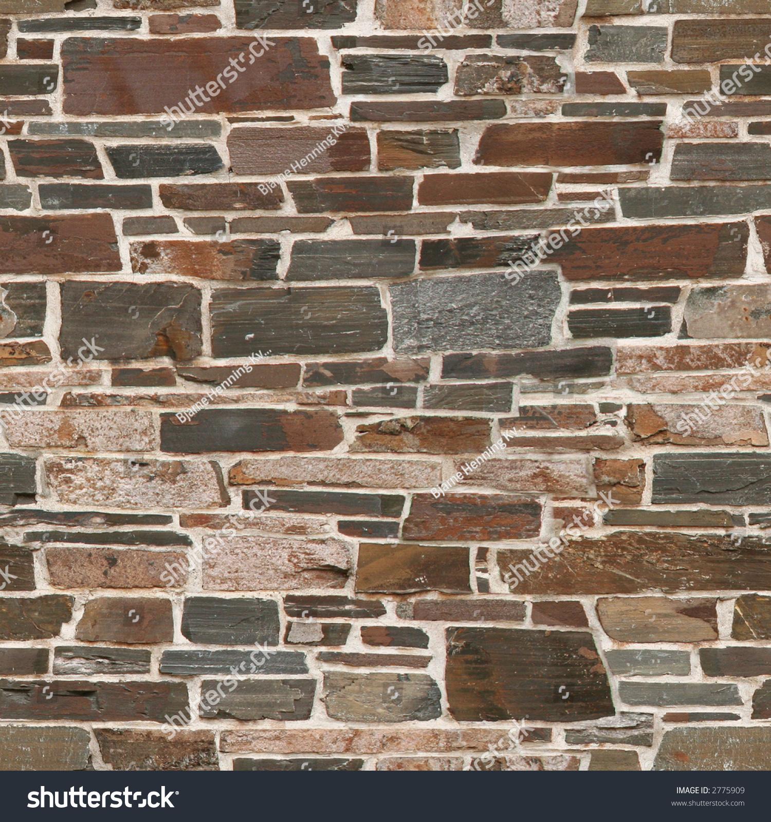 Seamless Stone Wall Texture Original 1267569 Stock Photo ...