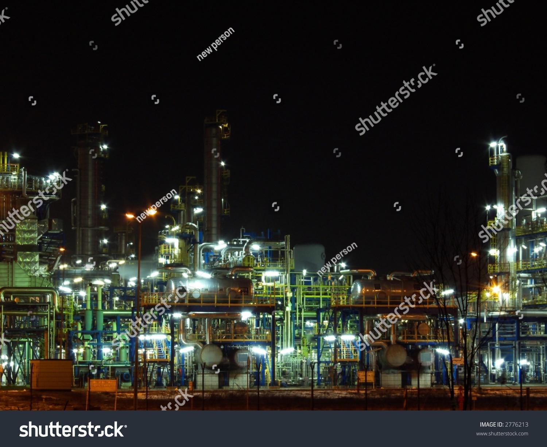 stock-photo-night-oil-refinery-night-sce