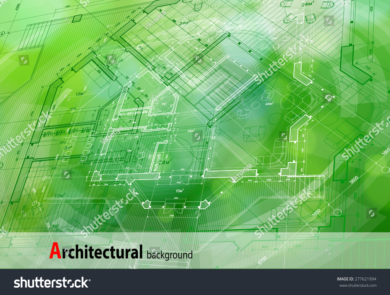 Architecture design blueprint house plan green stock for Architecture blueprint