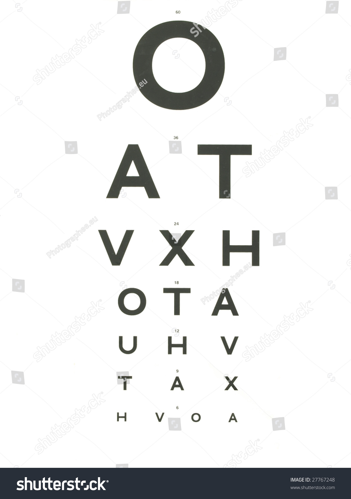 Eye Vision Chart Stock Photo Download Now 27767248 Shutterstock