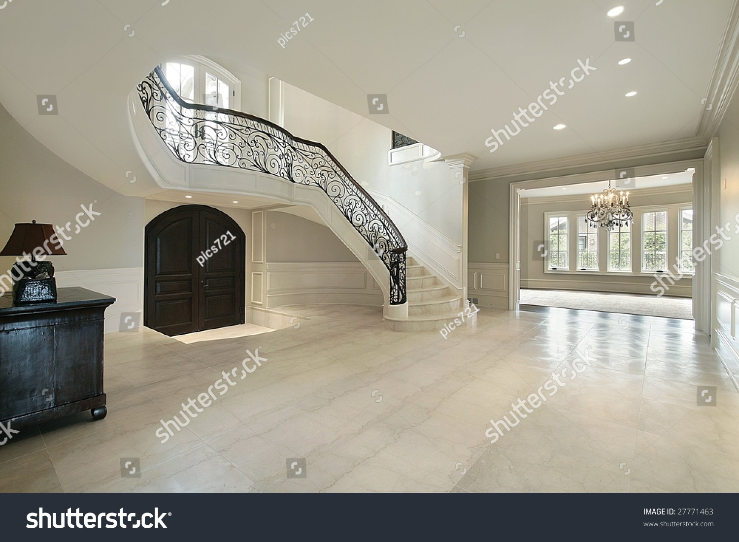 Foyer and stairs of luxury home stock photo 27771463 : shutterstock