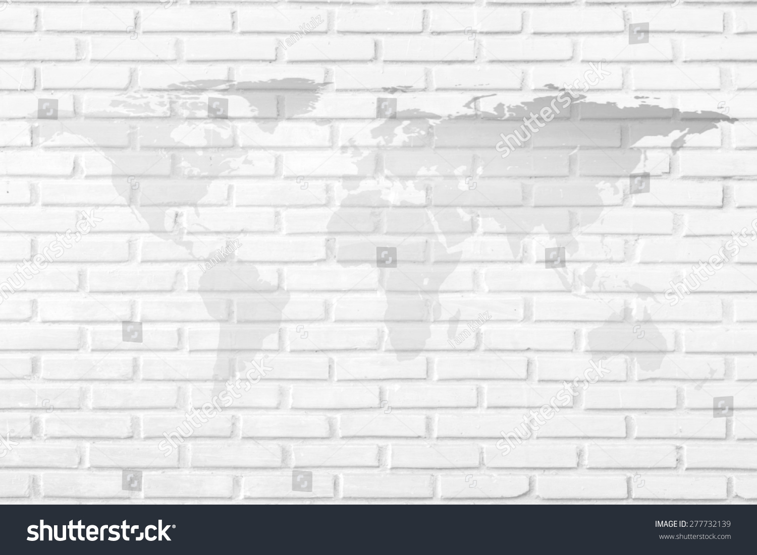 World map on white brick background stock photo edit now shutterstock world map on white brick as a background gumiabroncs Gallery