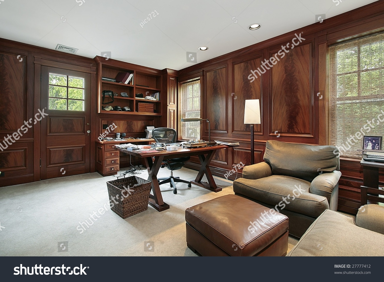 Wood Paneled Office