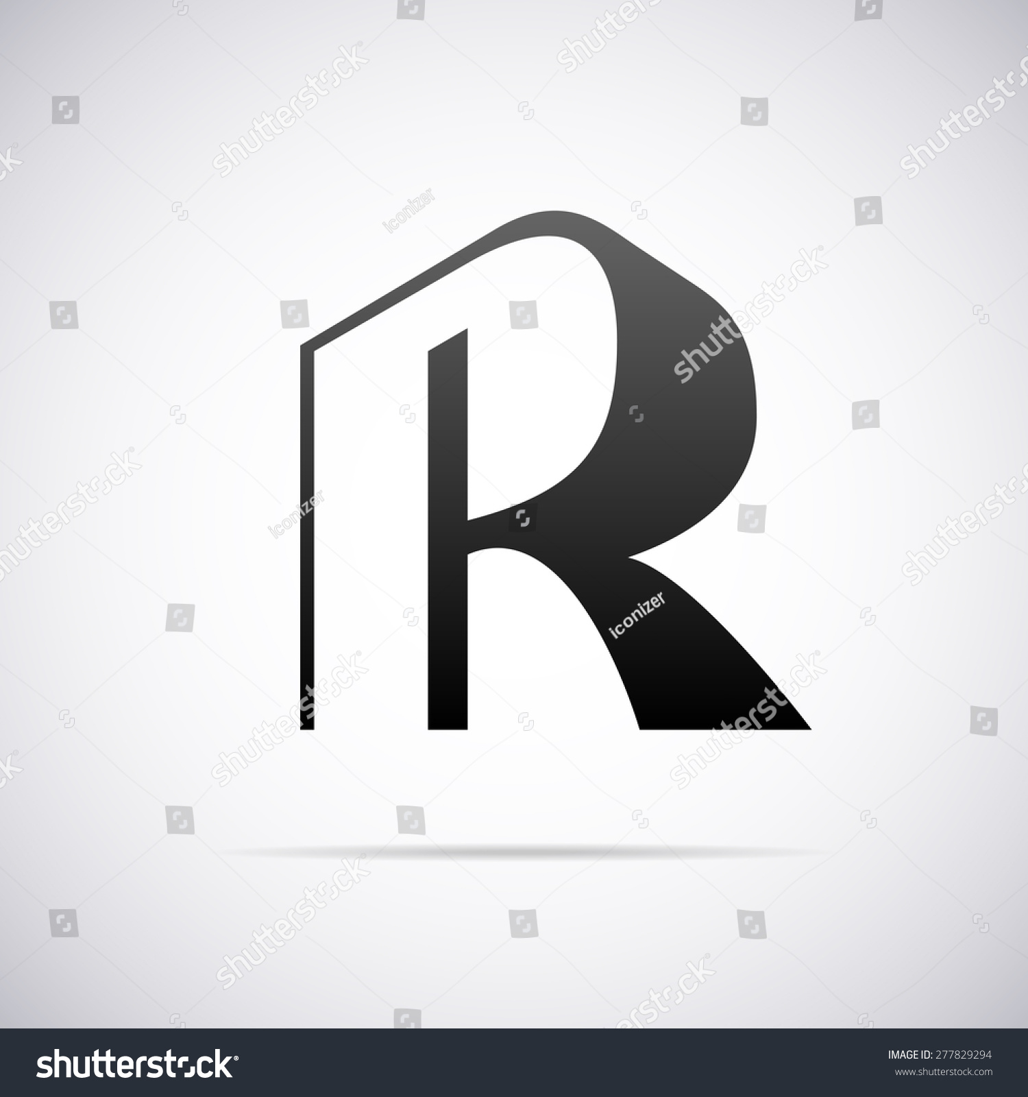 Vector Logo For Letter R Design Template - 277829294 ...