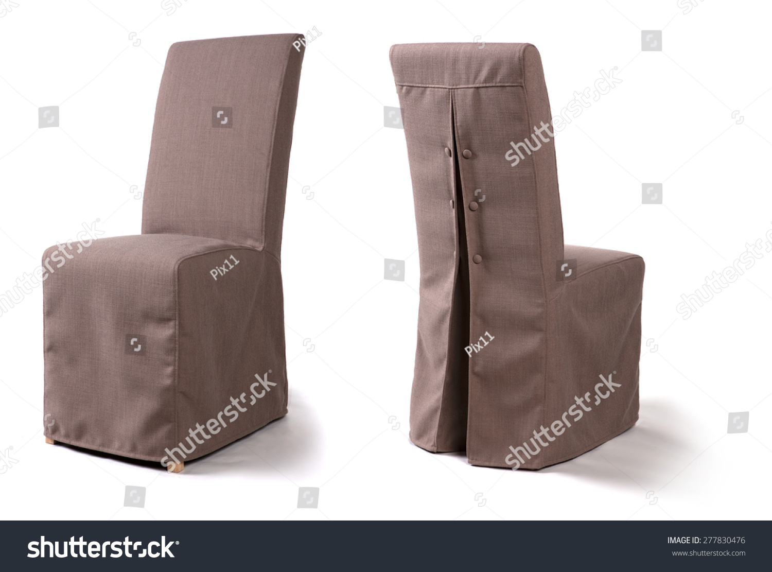 dining chair with loose cover stock photo 277830476 shutterstock