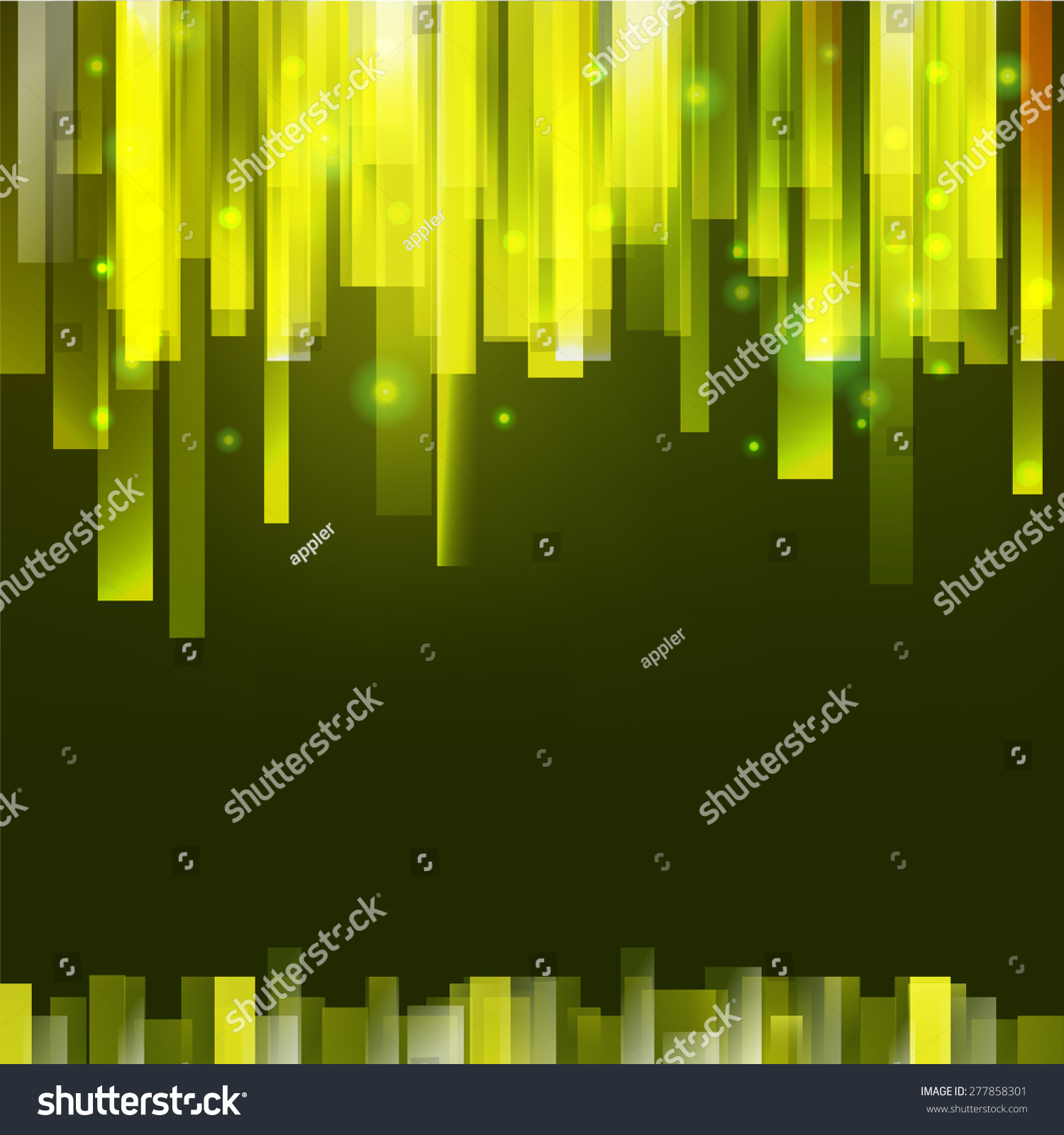 Straight Green Vertical Lines Abstract Vector Background