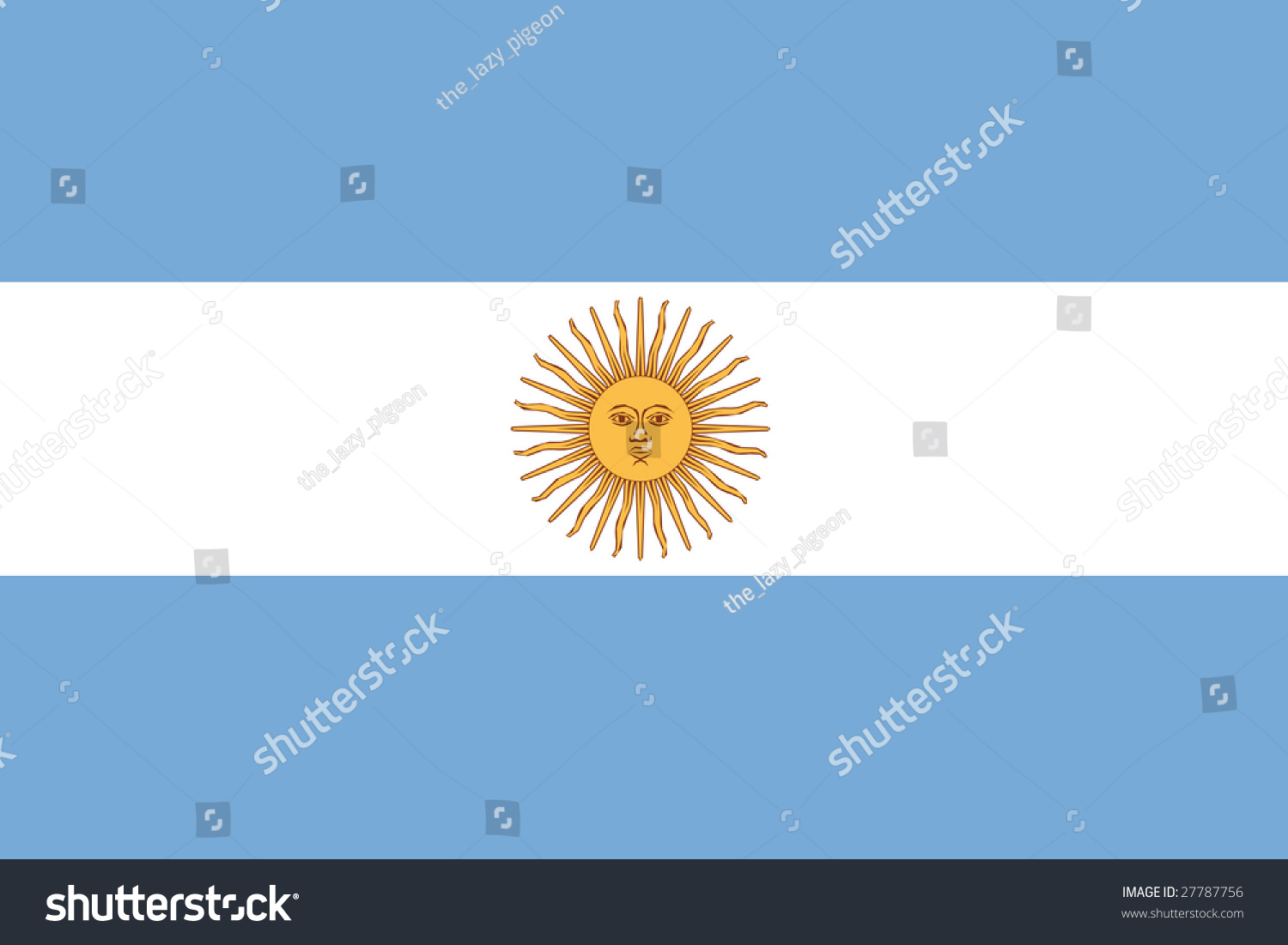 Official Flag Of Argentina Stock Photo 27787756 : Shutterstock Official Argentina Flag