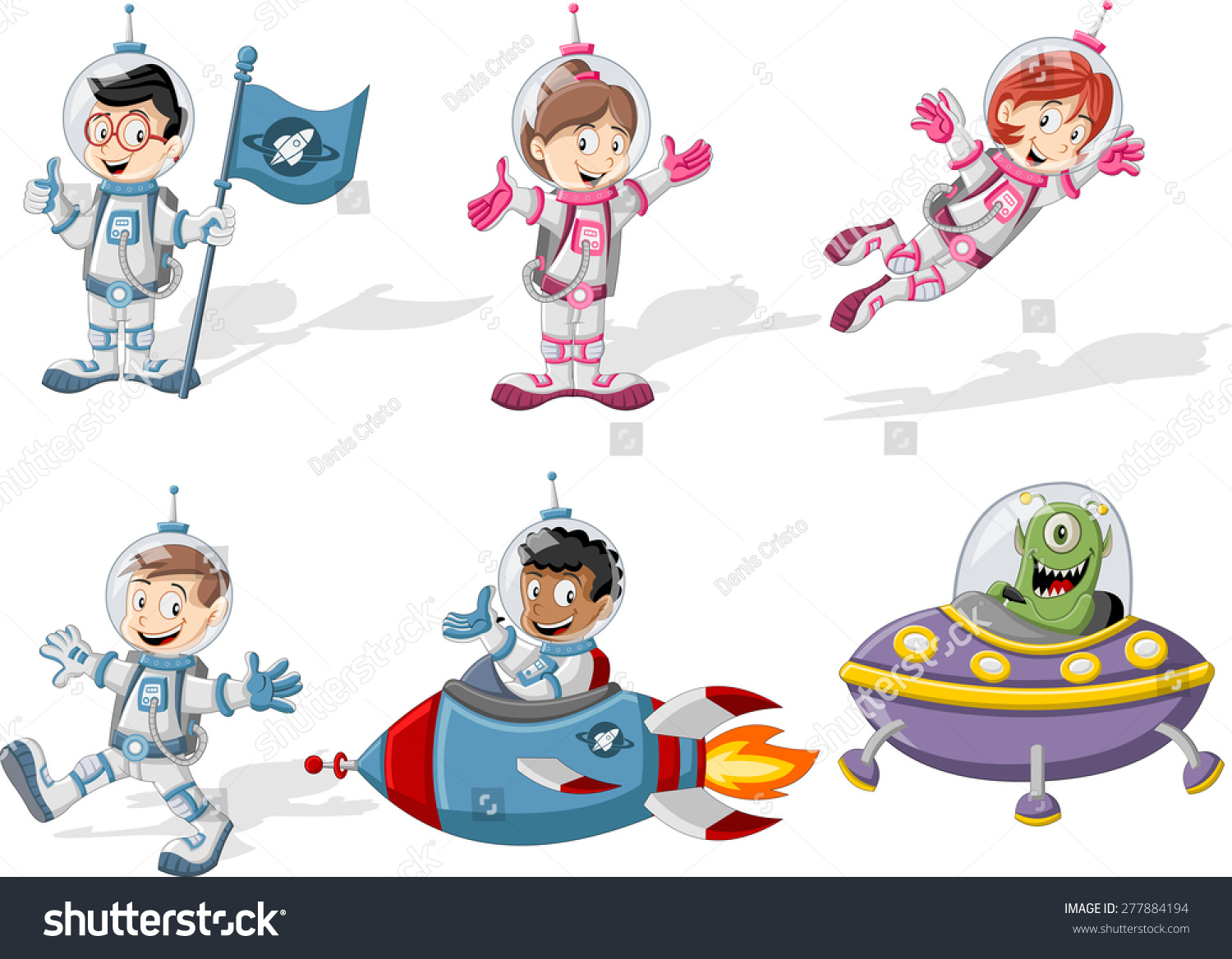cartoon astronaut in outer space - photo #25