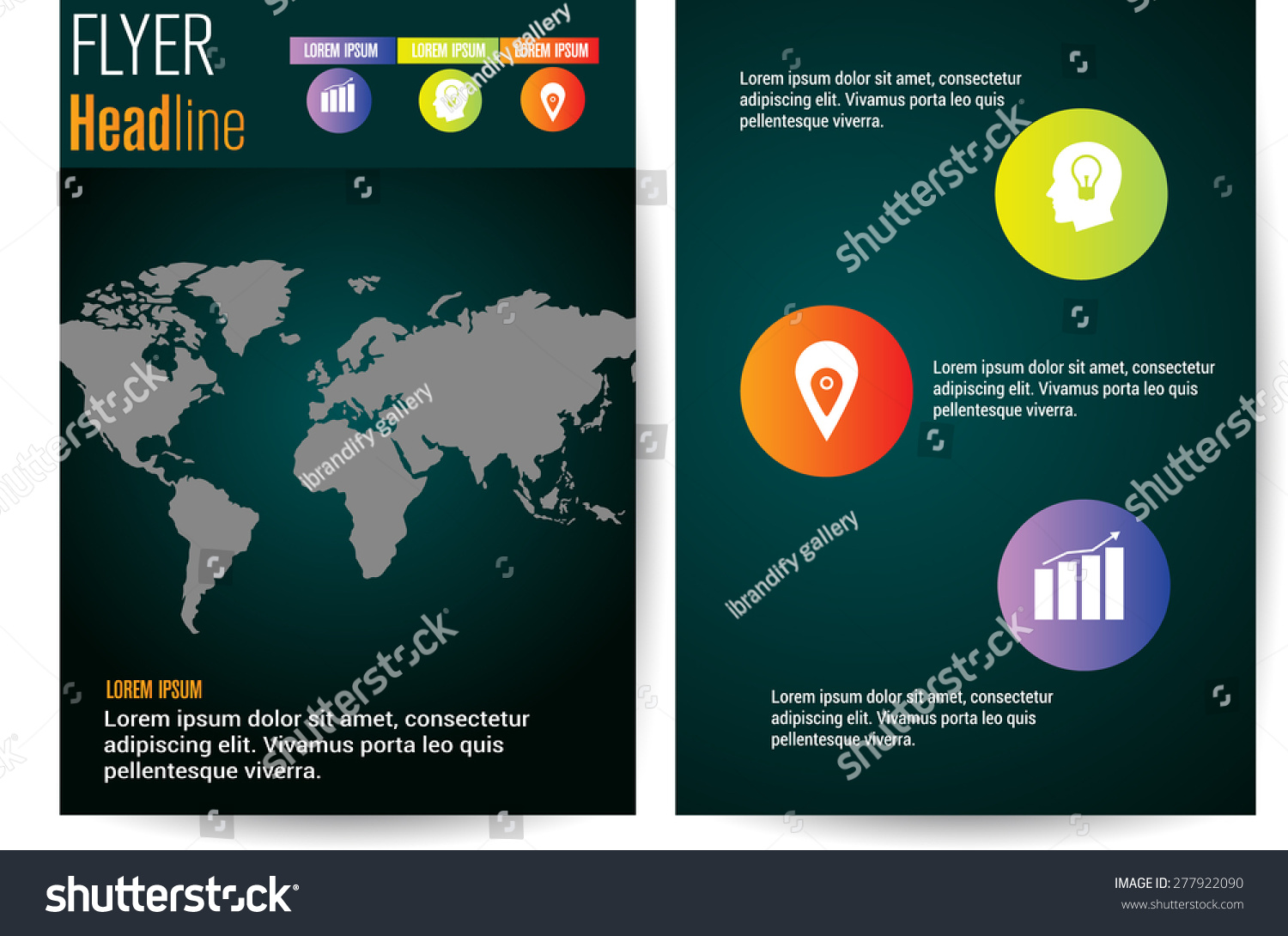 professional business flyer brochure template corporate stock professional business flyer brochure template or corporate banner design world map cover page big
