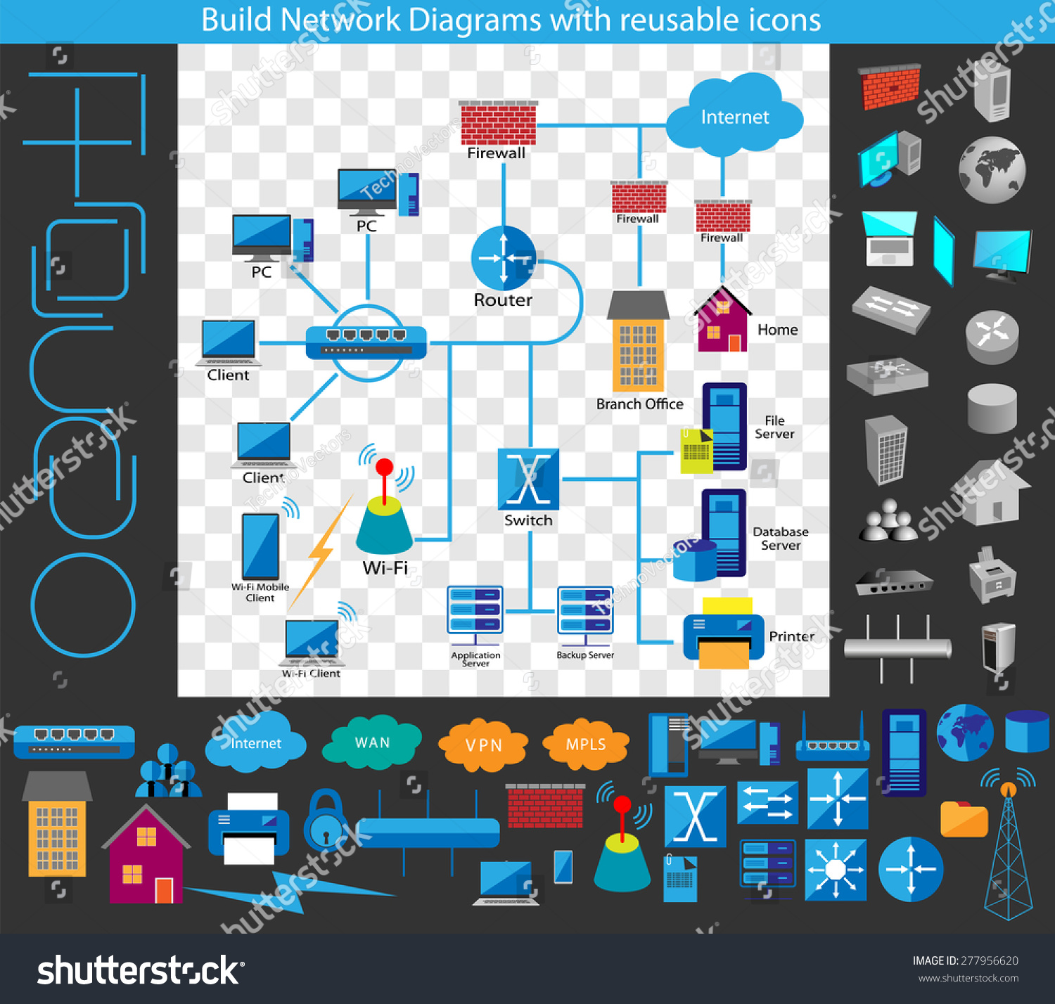 concept of building a network diagram build your own network diagrams through a complete collection - Complete Network Diagram