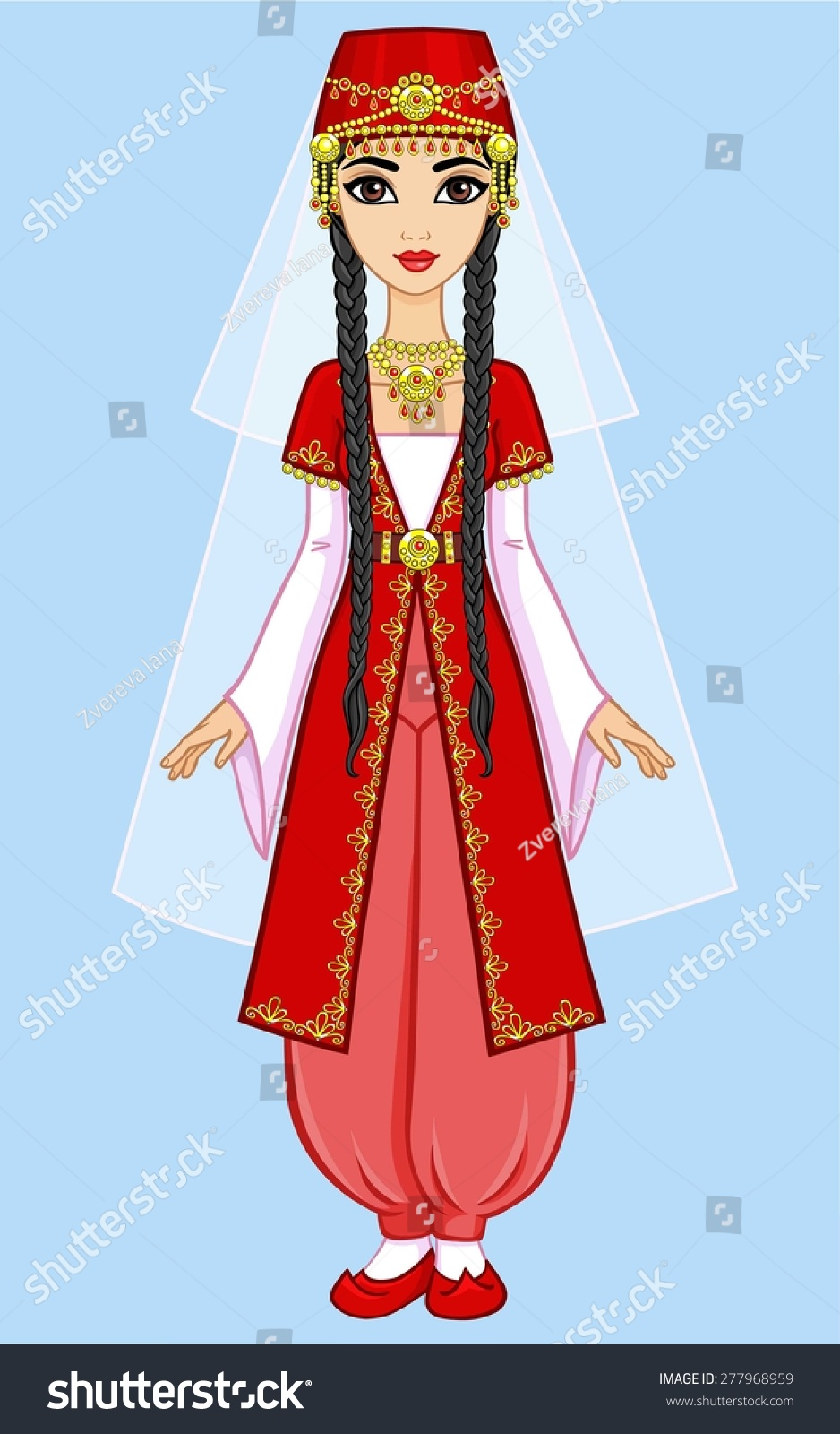 Royalty-free Animation east princess in an ancient ...