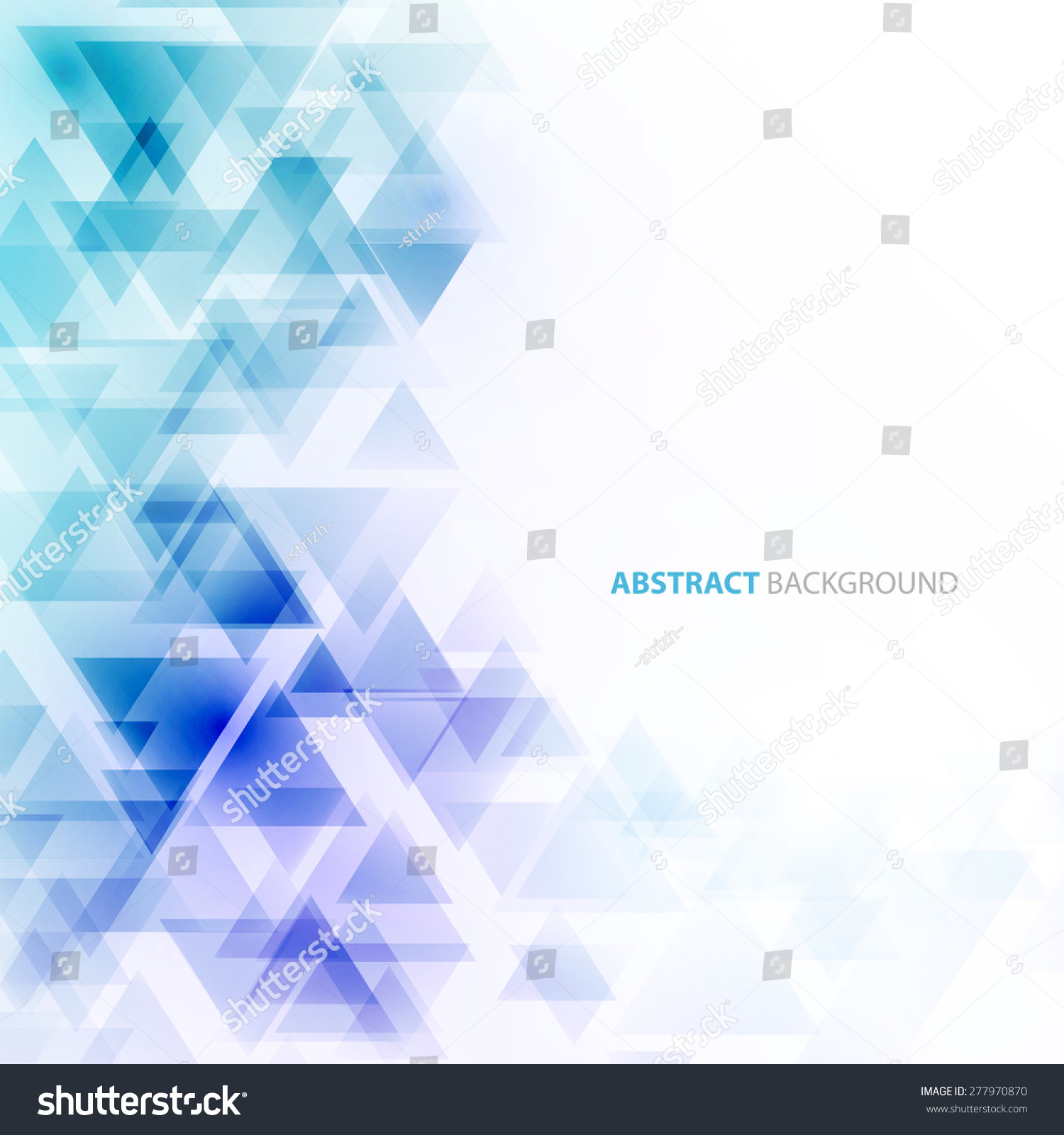 Abstract Geometric Background Transparent Triangles Vector Stock