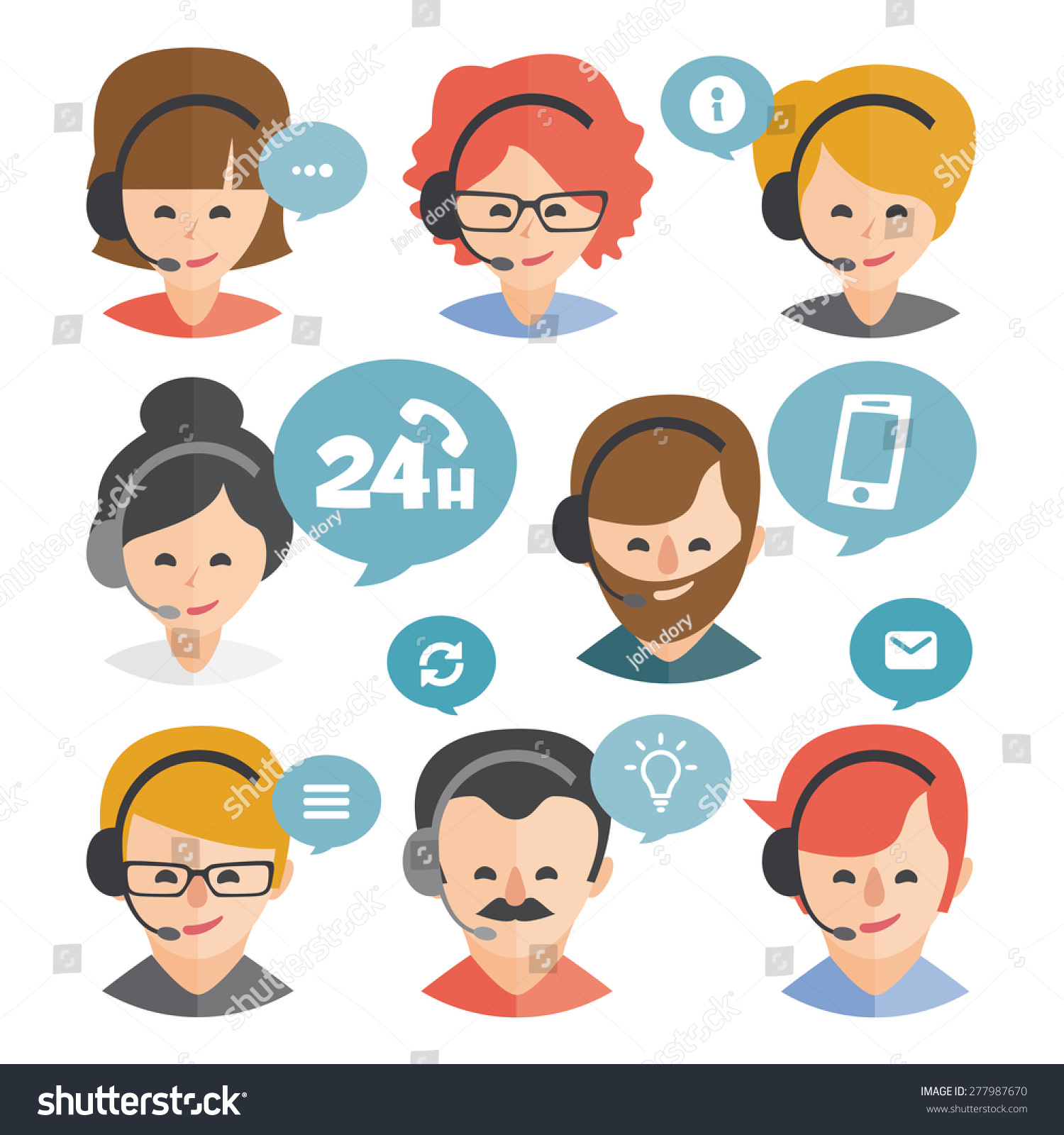 Call Center Operator Headset Web Icon Stock Vector 277987670 ...