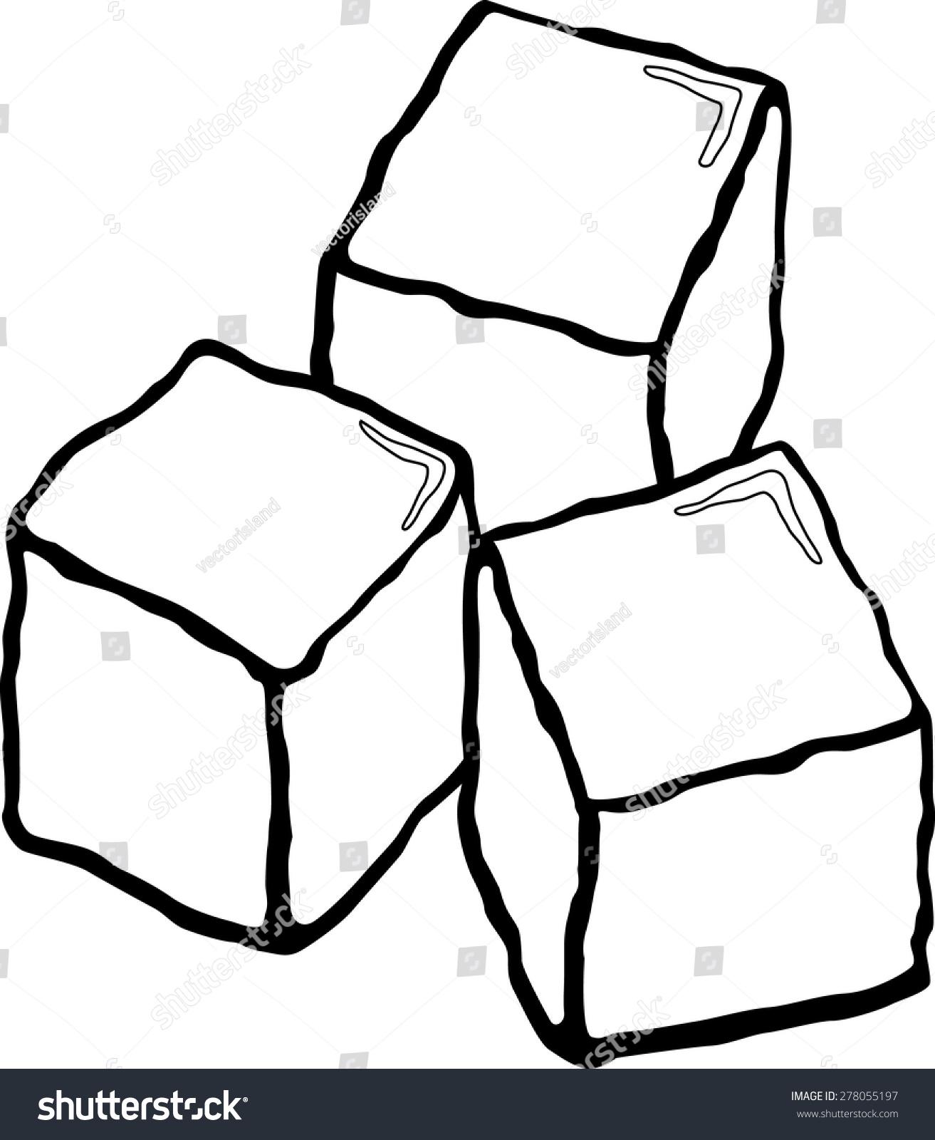 Ice Cubes Stock Vector 278055197 - Shutterstock