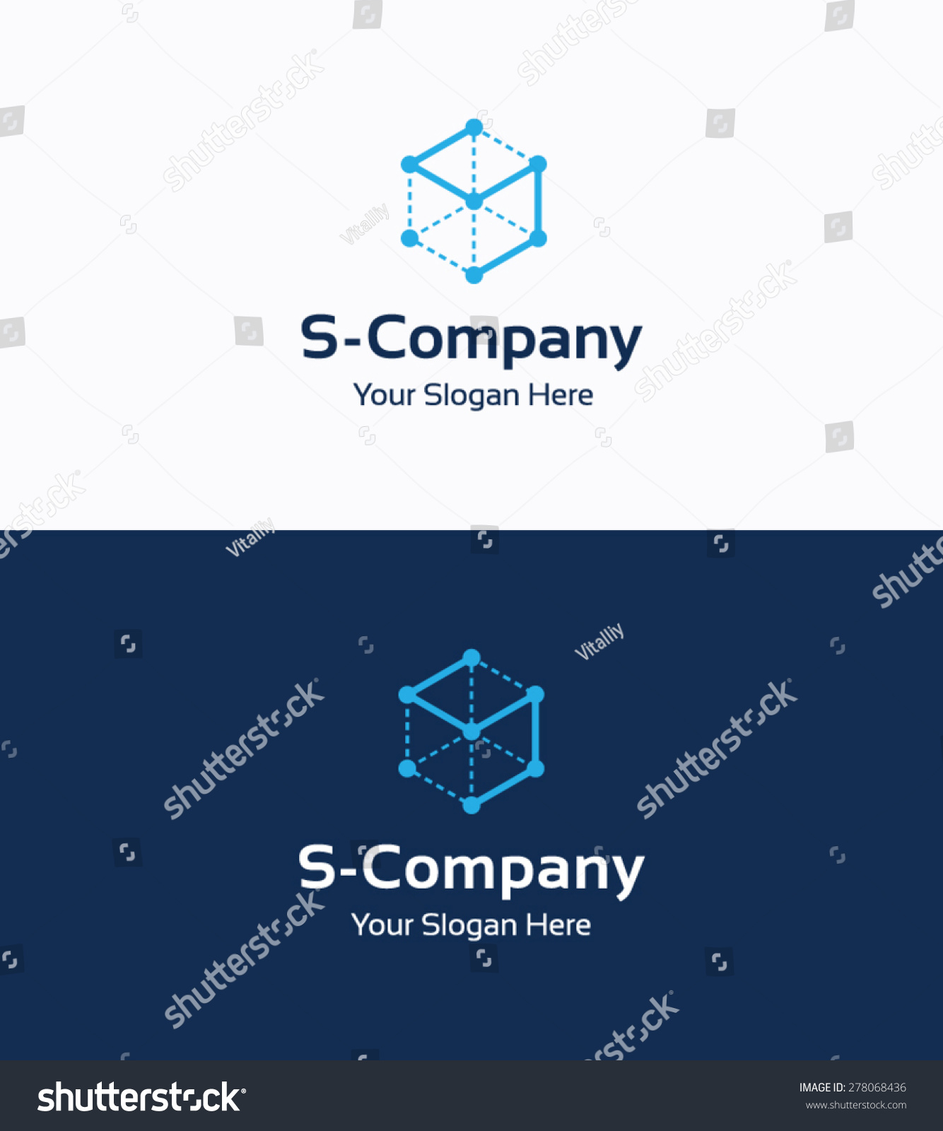 frame cube 3 d company logo template のベクター画像素材