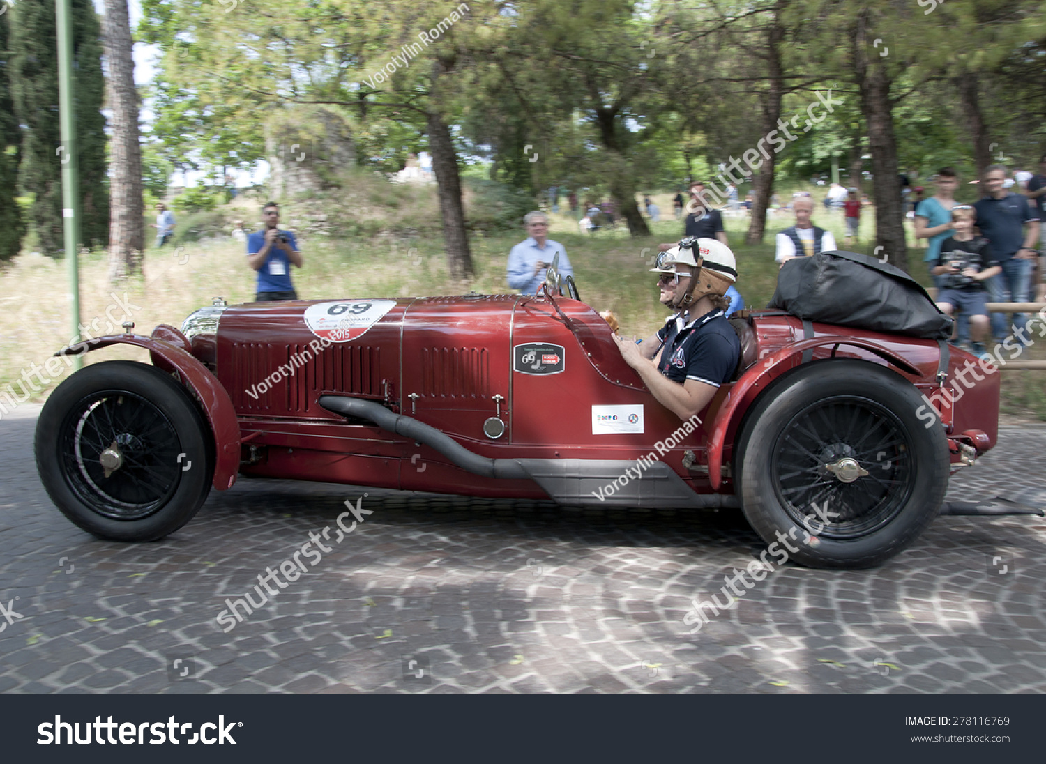 Brescia, Italy - May 14:Driver Ronald Goedmakers On Maserati Tipo 26m Sport, 1930 Built On Mille ...