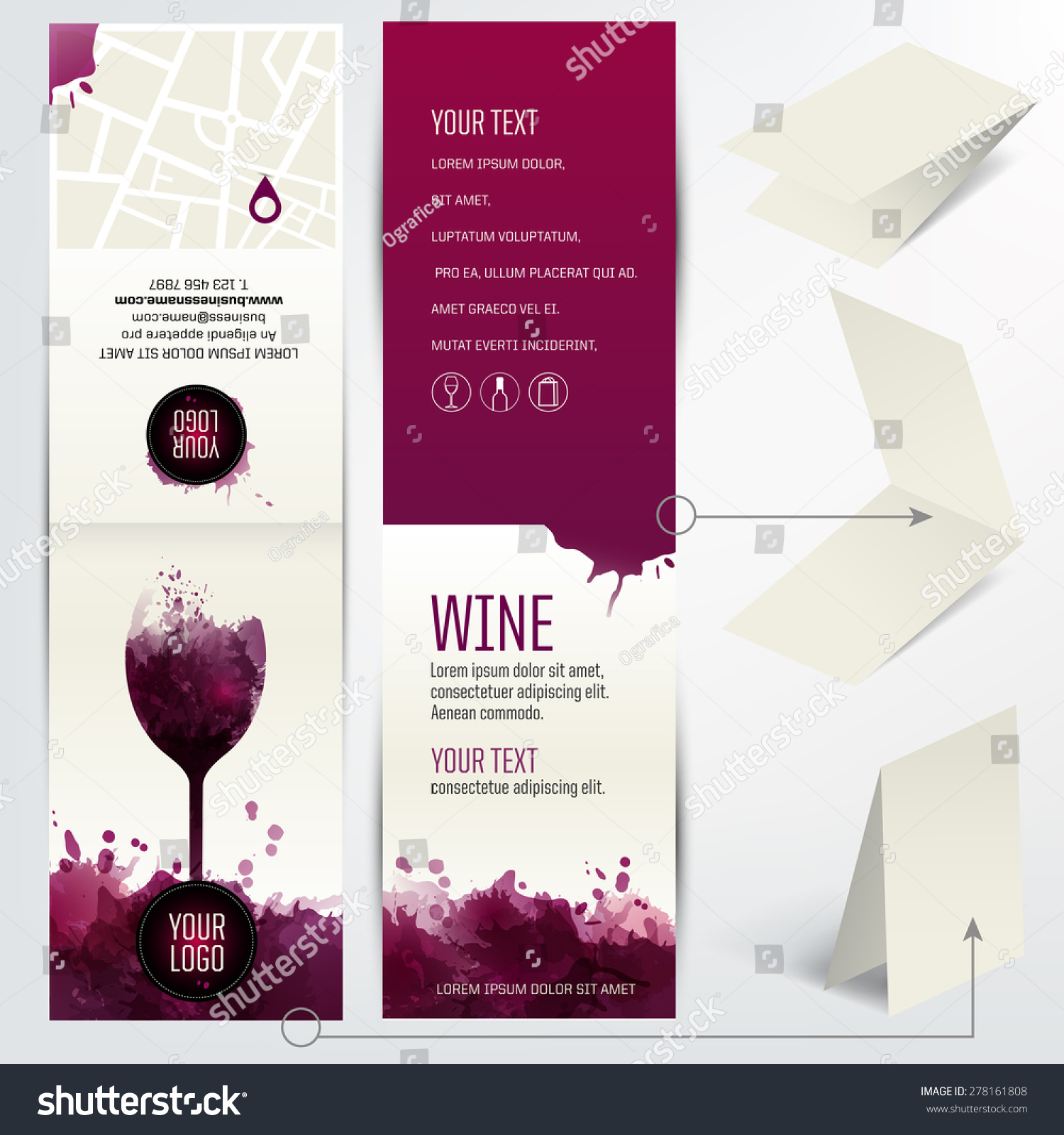 Royalty-free Card for wine business, restaurant, bar… #278161808 ...
