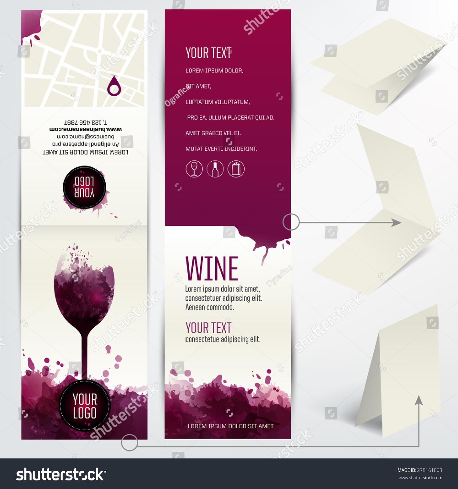 Card Wine Business Restaurant Bar Wine Stock Vector 278161808 ...