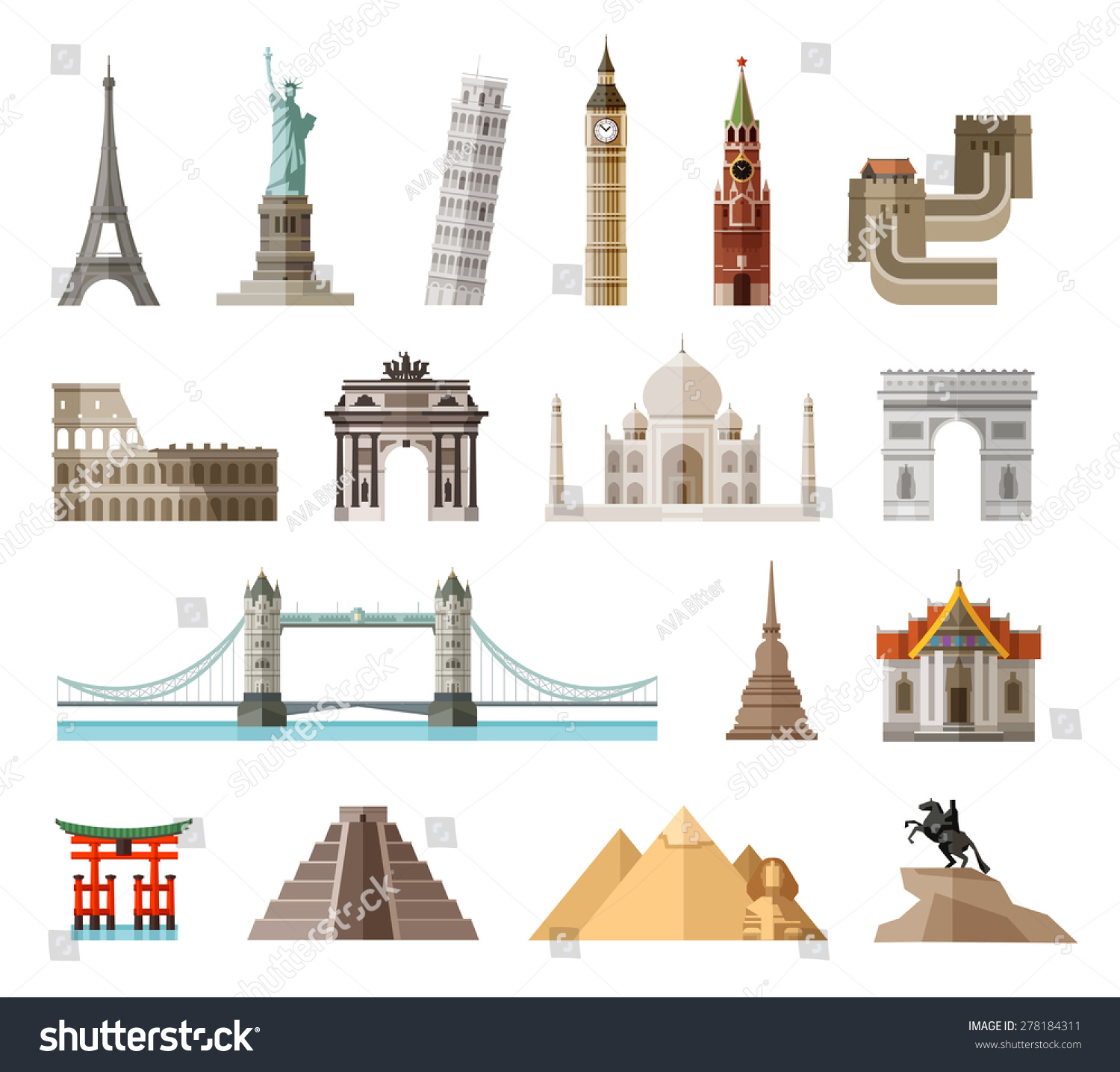 Countries world vector logo design template stock vector for Special landmarks