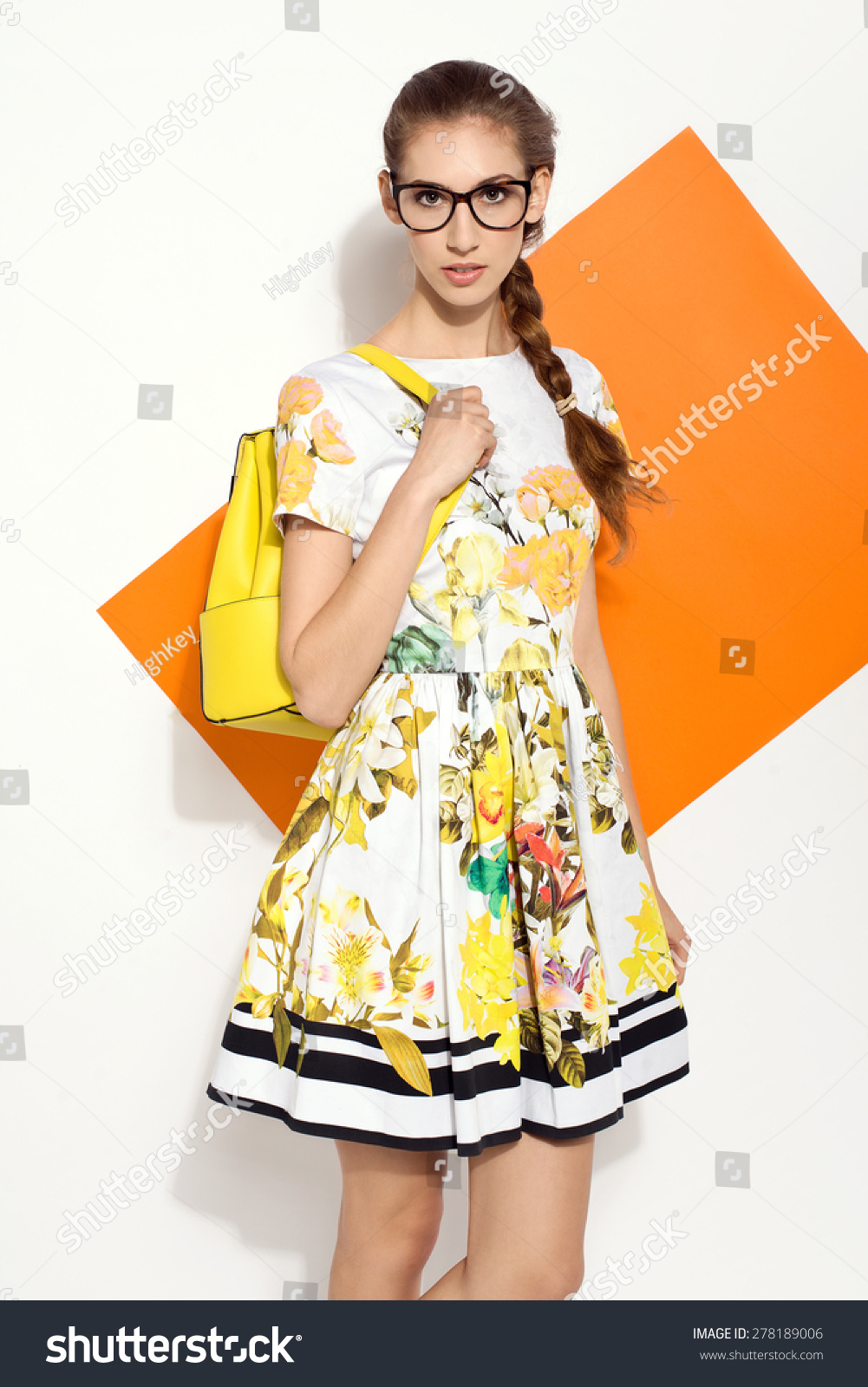 c686030608c Beautiful Young Brunette Woman Nice Colorful Stock Photo (Edit Now ...