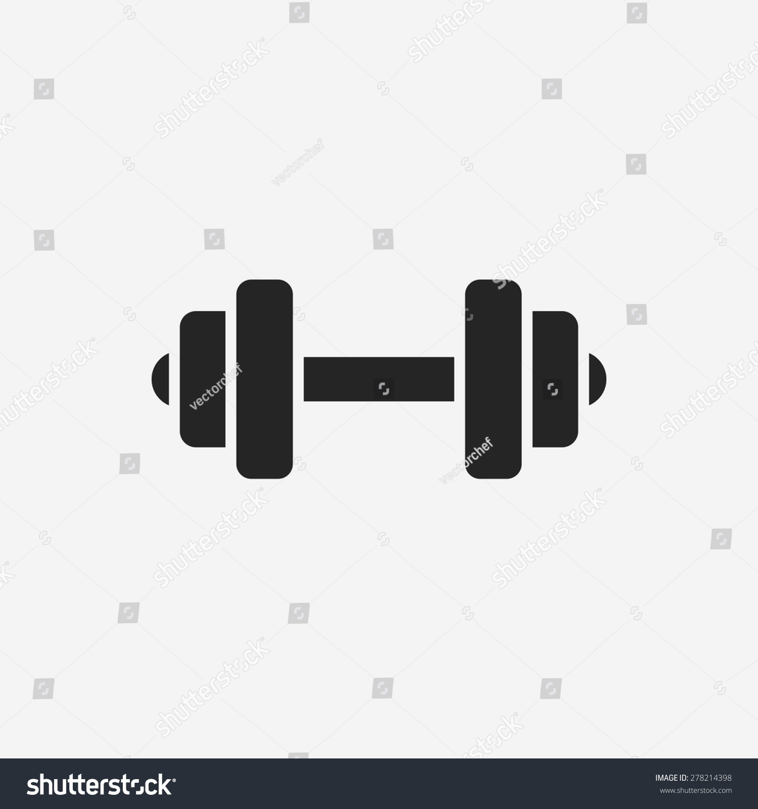 Dumbbell Icon Vector Dumbbell Icon Stock Ve...