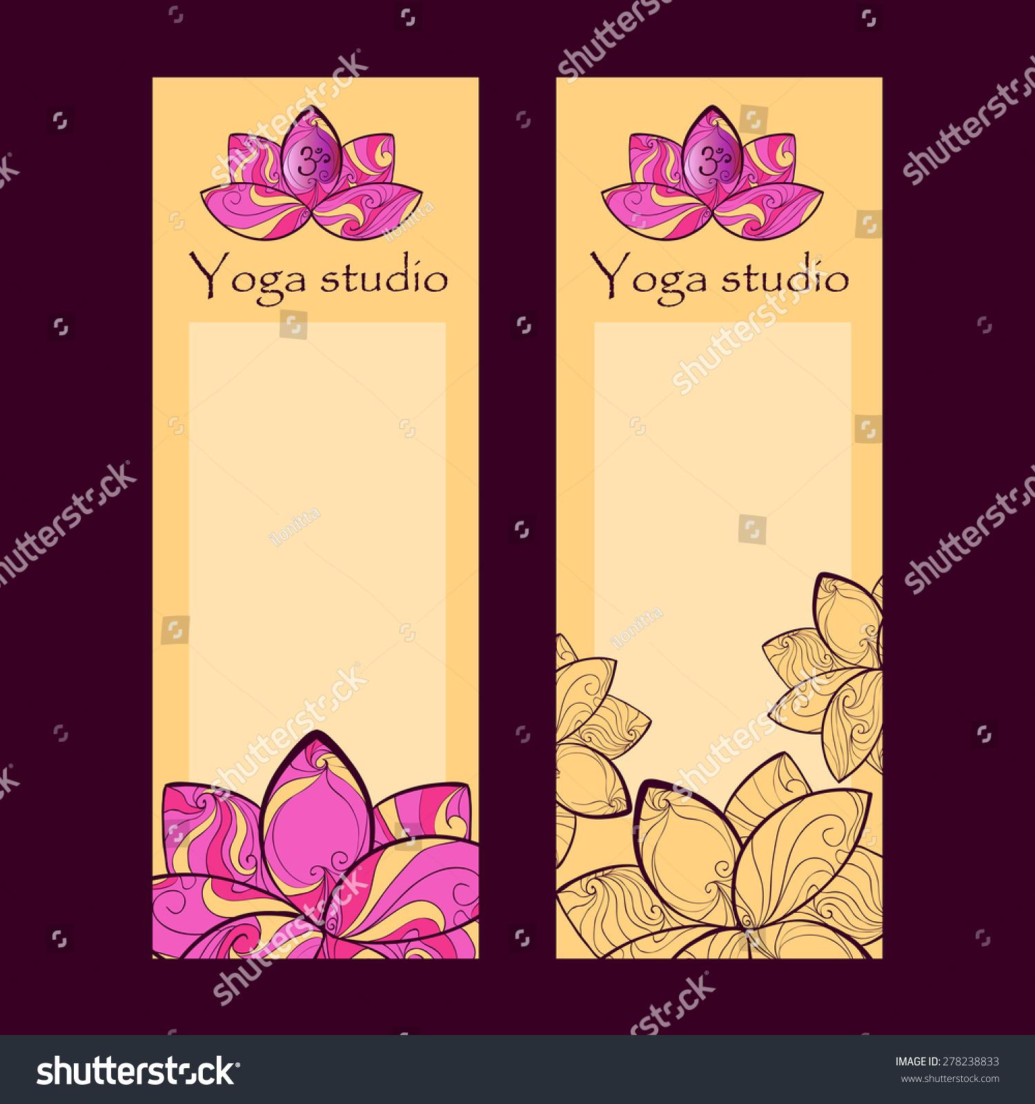 Yoga Design Flyer Business Card Lotus Stock Vector 278238833 ...