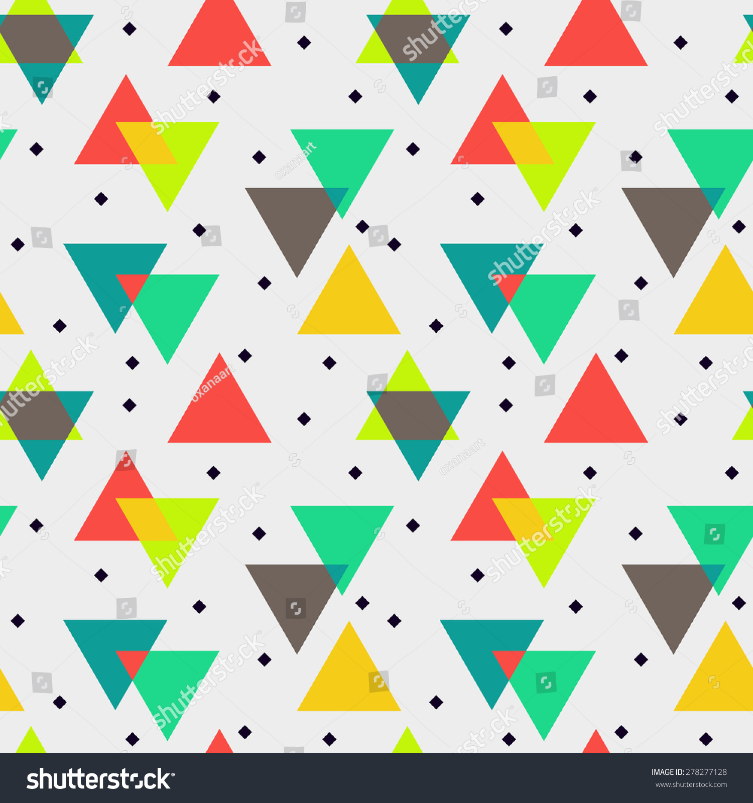 Abstract vector seamless pattern geometric stock vector for Object pool design pattern