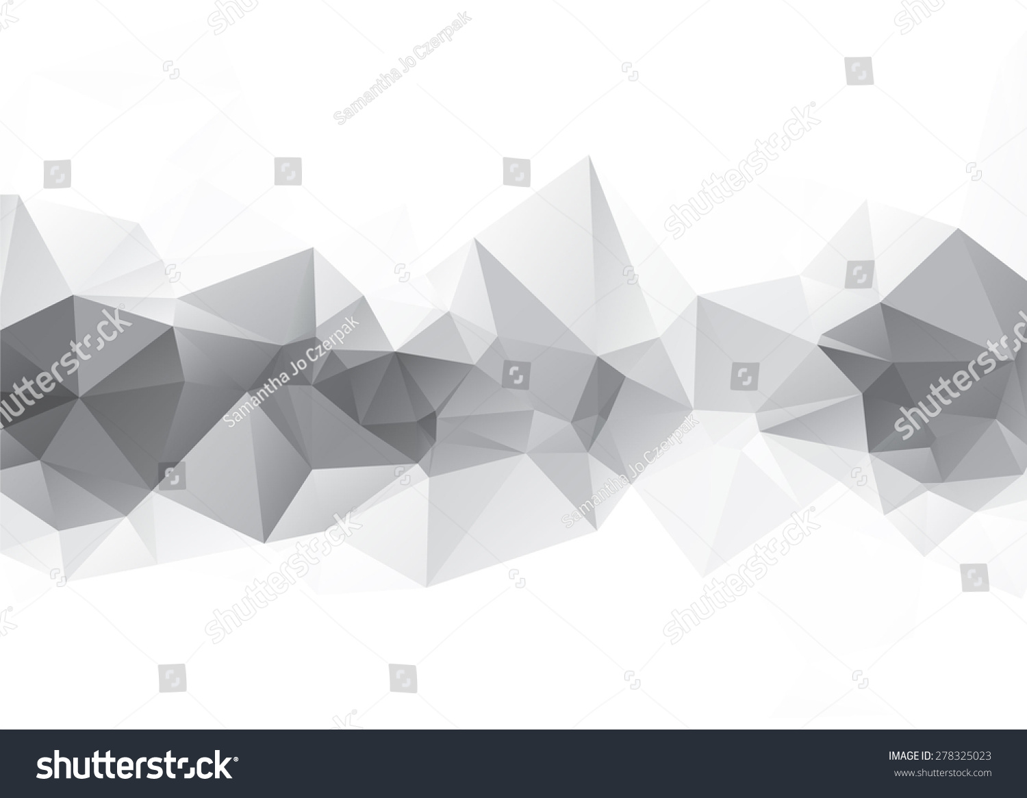 Grayscale Abstract Triangle Low Poly Polygonal Stock Vector (Royalty ...