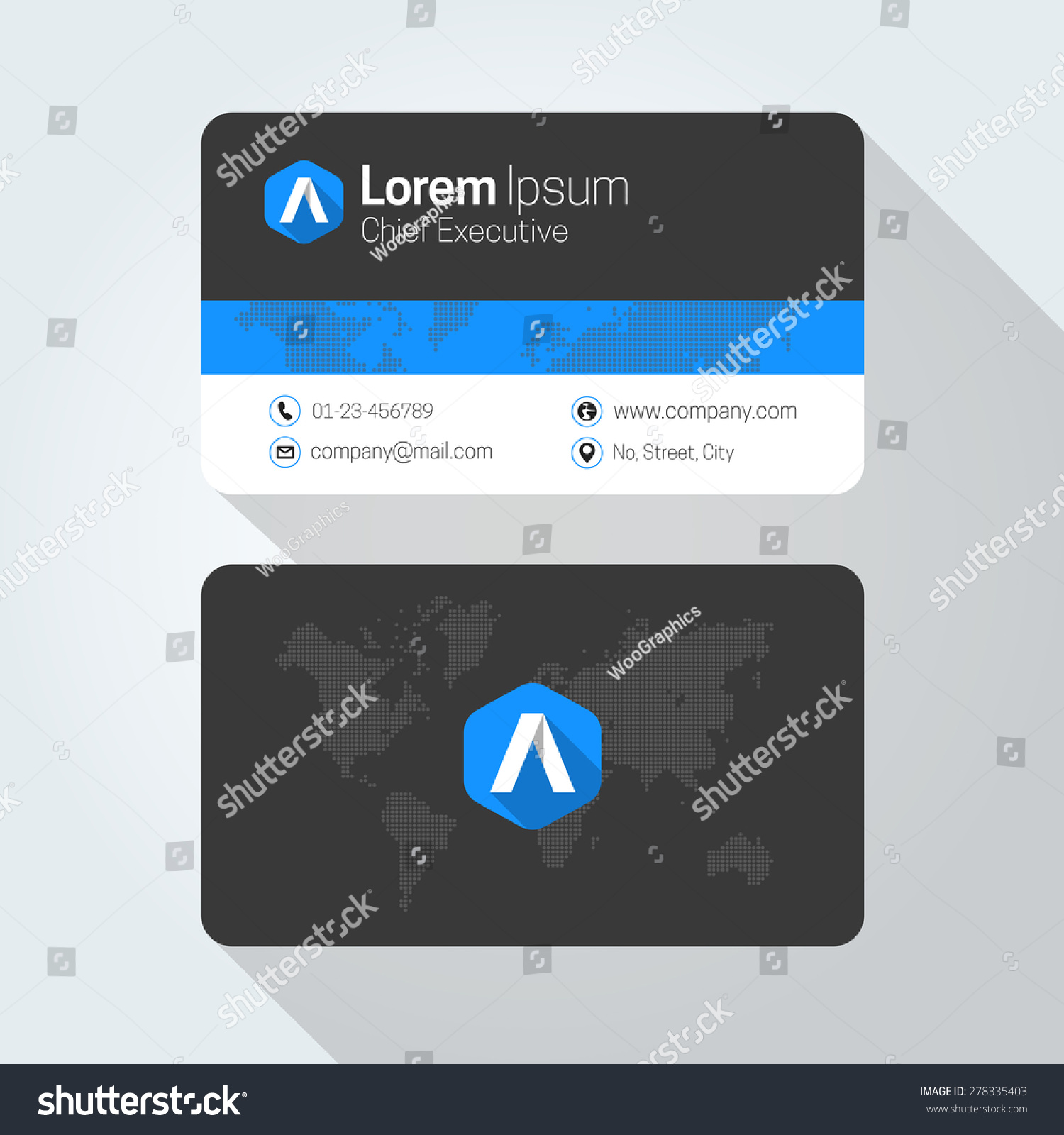 Letter flat style initial logo business stock vector 278335403 a letter flat style initial logo business card magicingreecefo Choice Image