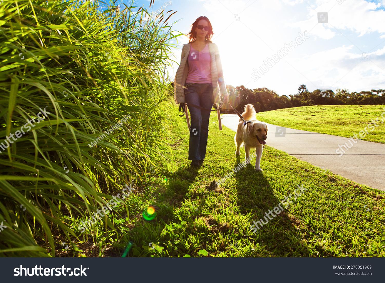 woman walking in grass - photo #26