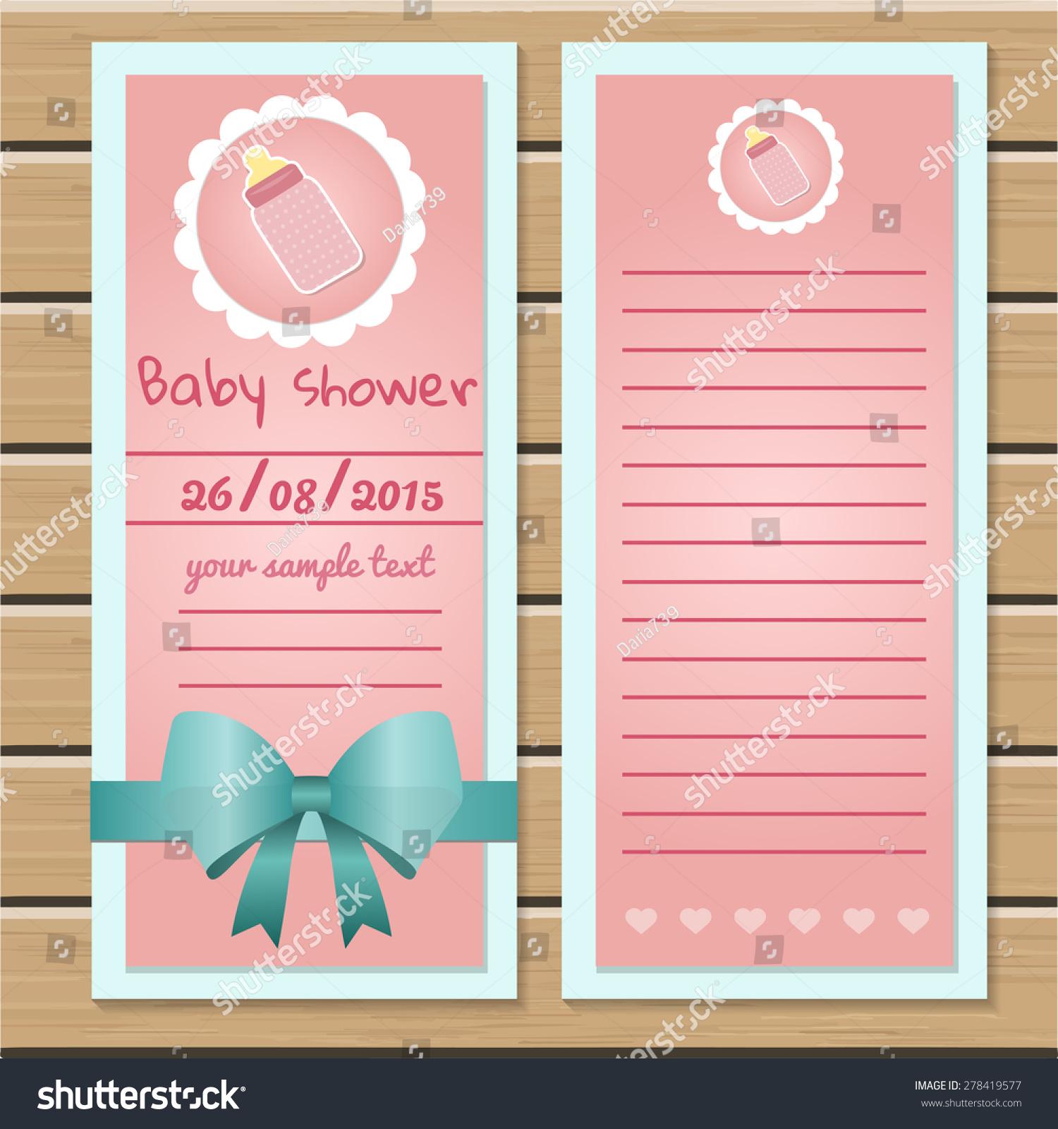 baby shower card template stock vector 278419577 shutterstock