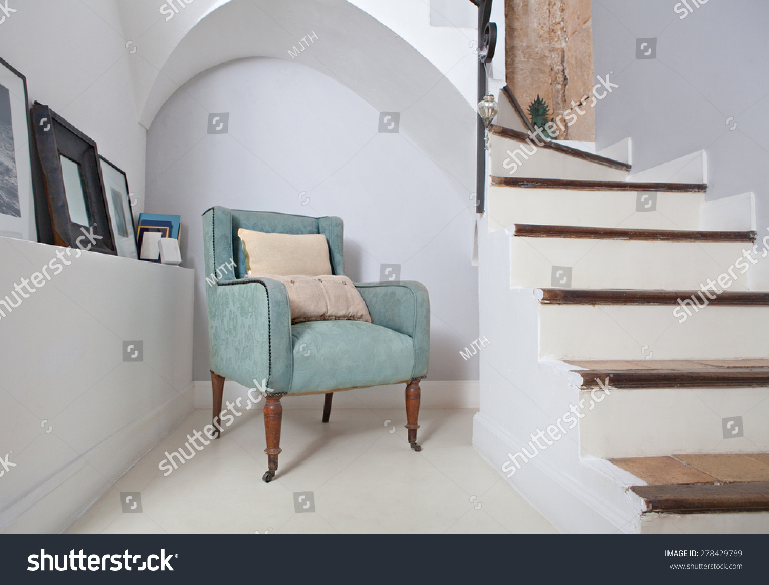 Arch And Next To Stone Walls And Stairs Indoors Reading Room With