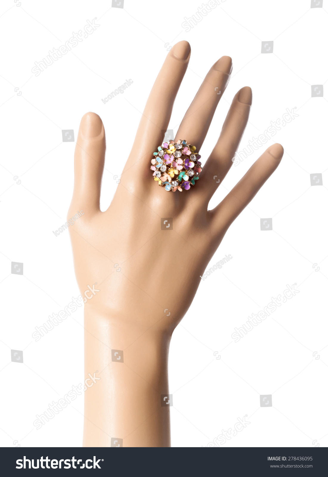 Mannequin Hand Demonstrating Fashion Ring Stock Photo (Download Now ...