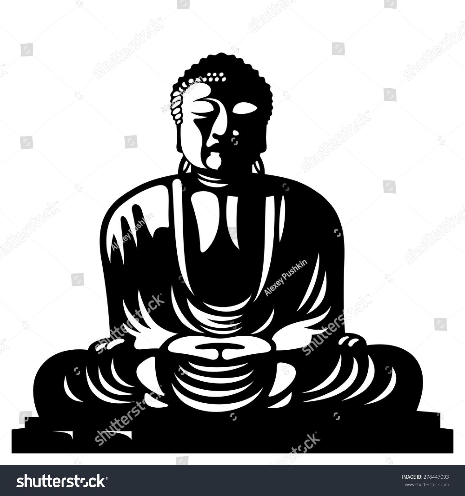 Statue buddha sitting lotus position asian stock vector 278447093 statue of buddha sitting in the lotus position asian religious symbol biocorpaavc