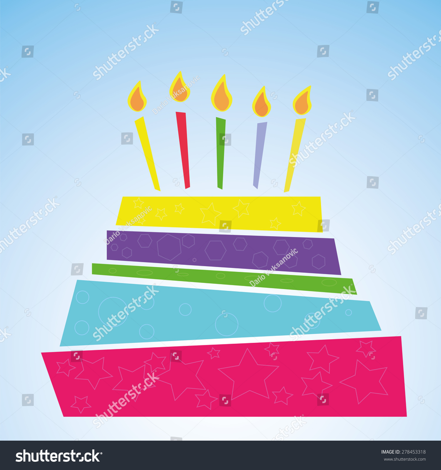 Birthday Cake Vector Eps 10 Illustration Stock Vector 278453318