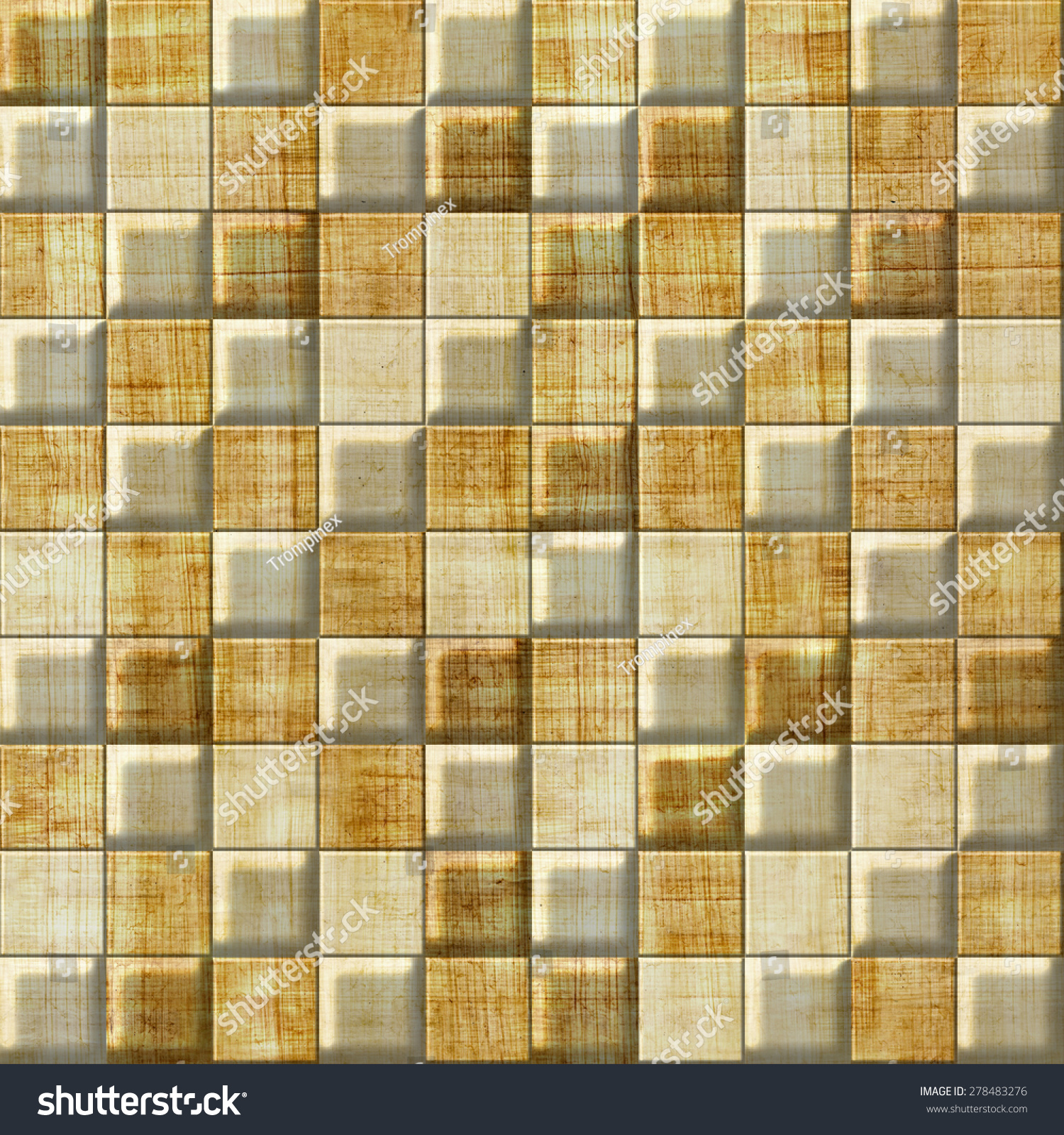Checkered Pattern Decorative Panels Vintage Wallpaper Stock ...